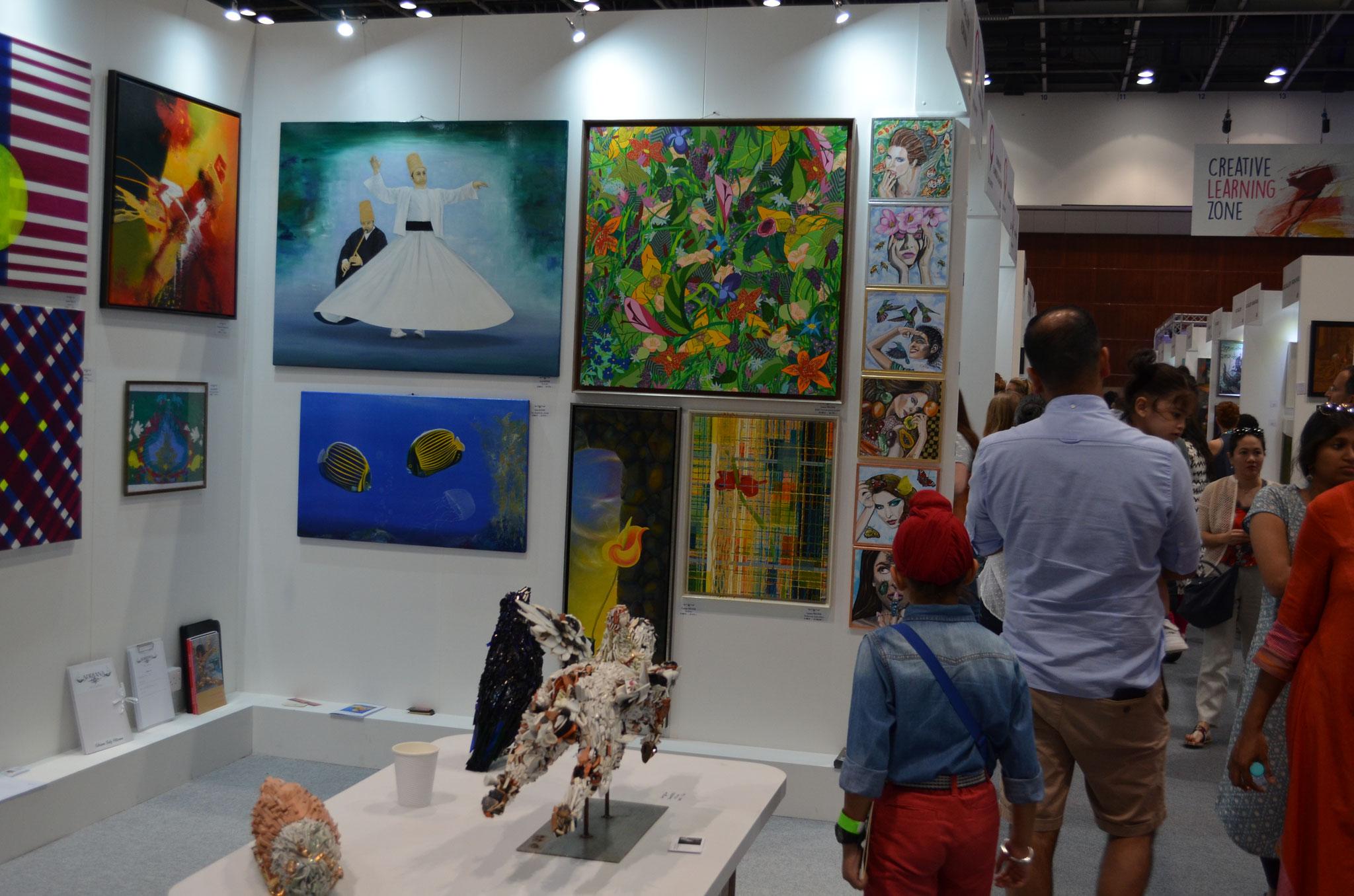 Vernissage 12. April 2017. World Art Dubai World Trade Center.