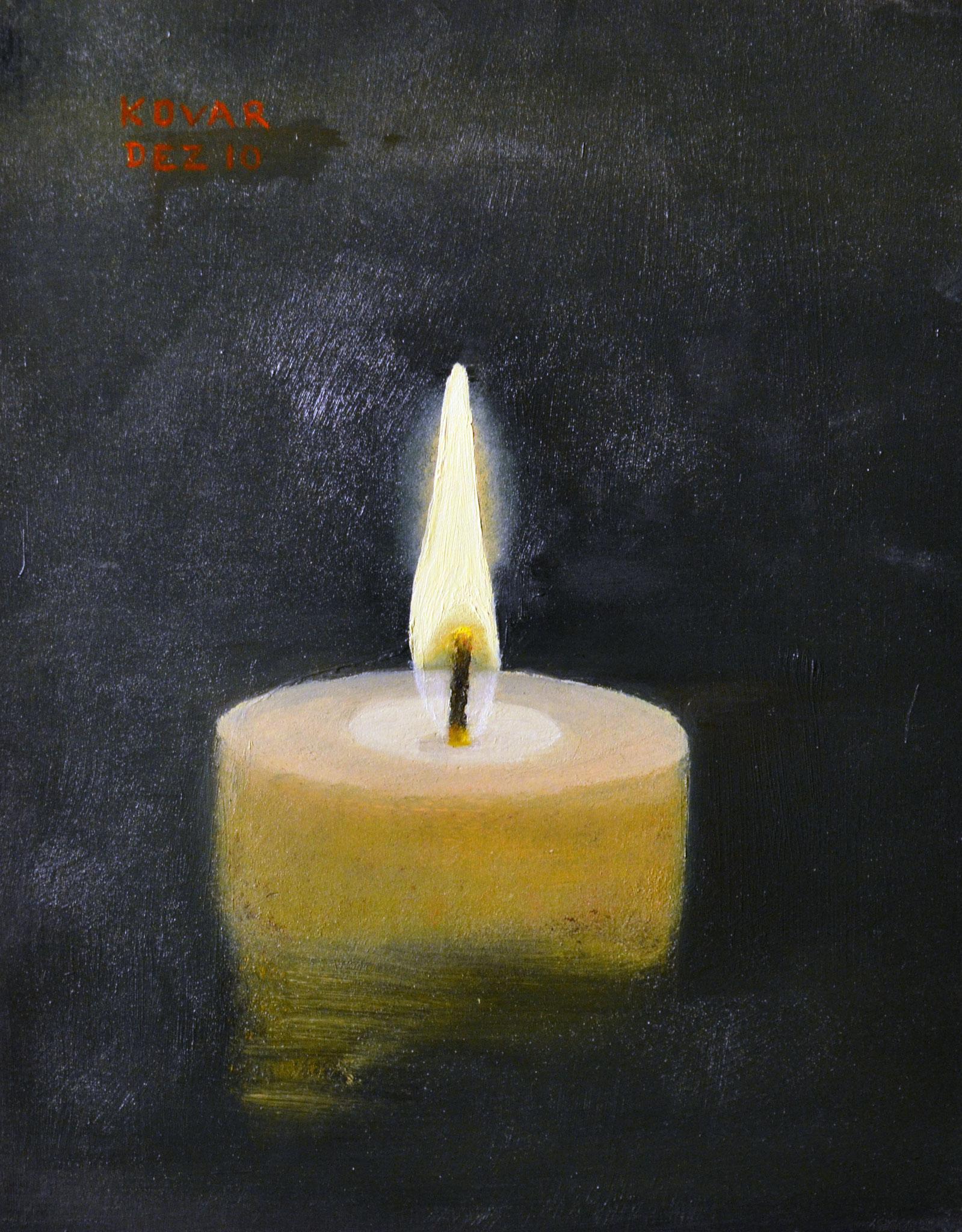 Kerze / candle, Öl auf Holz, 21 x 26cm, 2010  Oil  on Wood