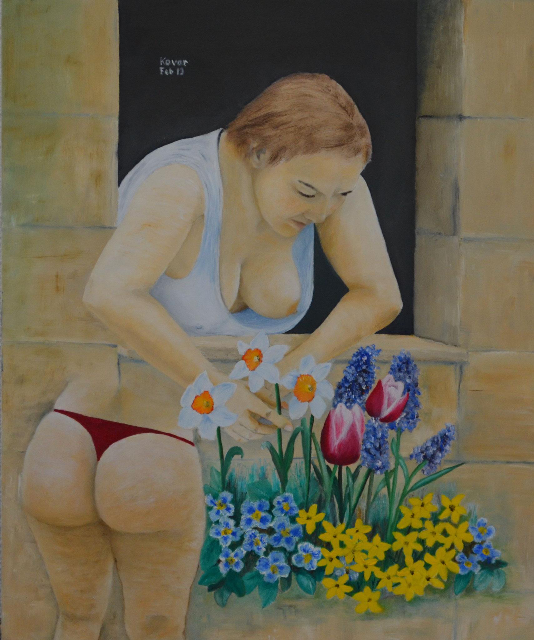 Frühlingserwachen / Spring awakening, Öl auf Leinwand 44x54cm, 2013 ,Oil on Canvas.