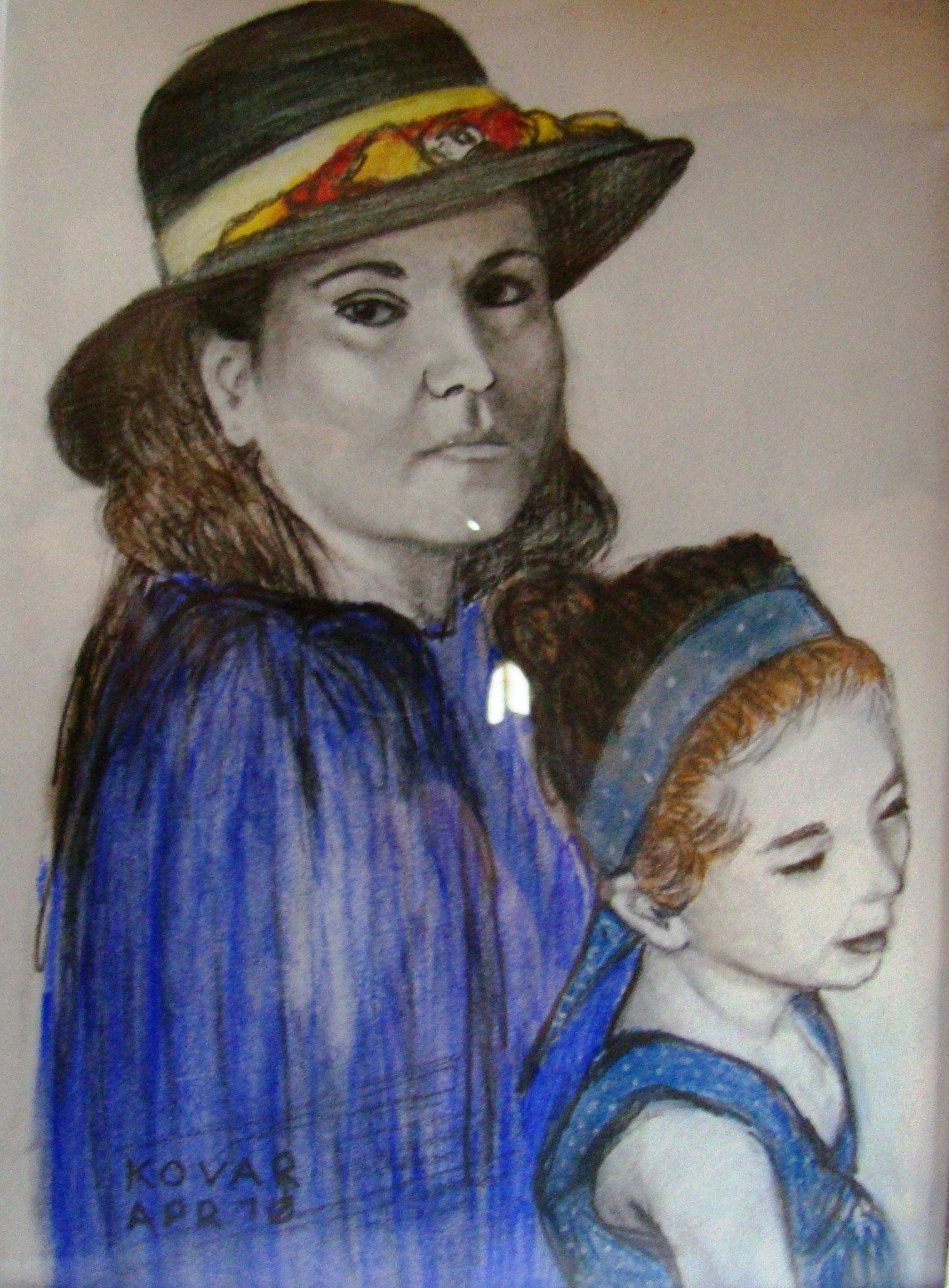 Maria von der Schulenburg, Pastell, 14x16cm.