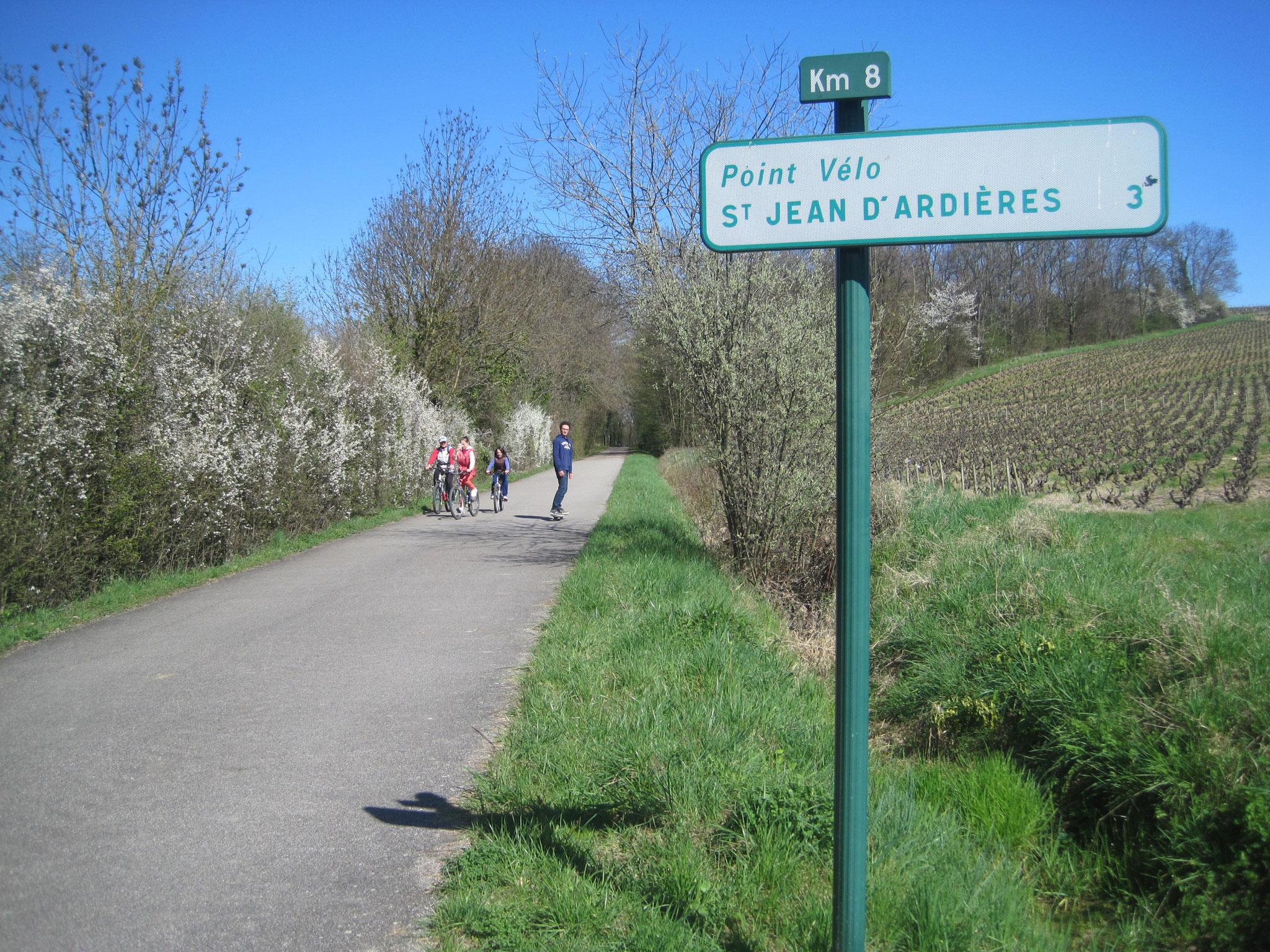 Signalisation de la Voie Verte du Beaujolais (69)
