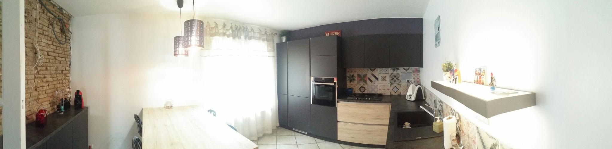 vue panoramique de la cuisine par cuisine design Toulouse