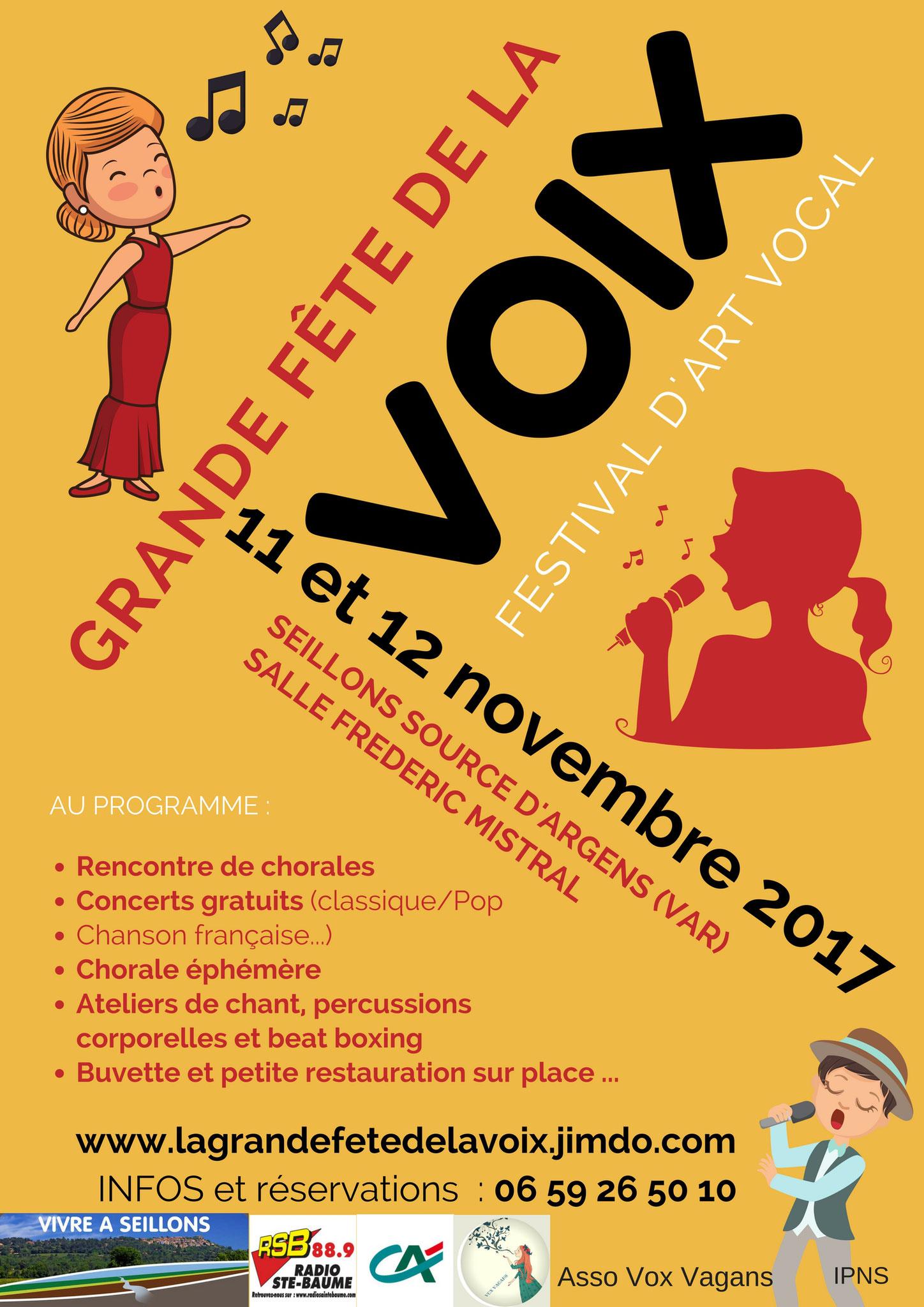 Festival de la voix.