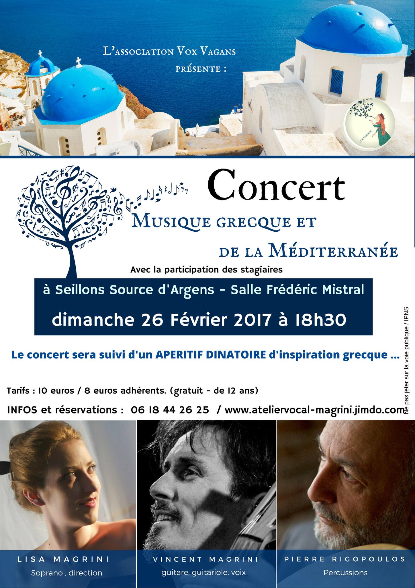 concert de chant grec