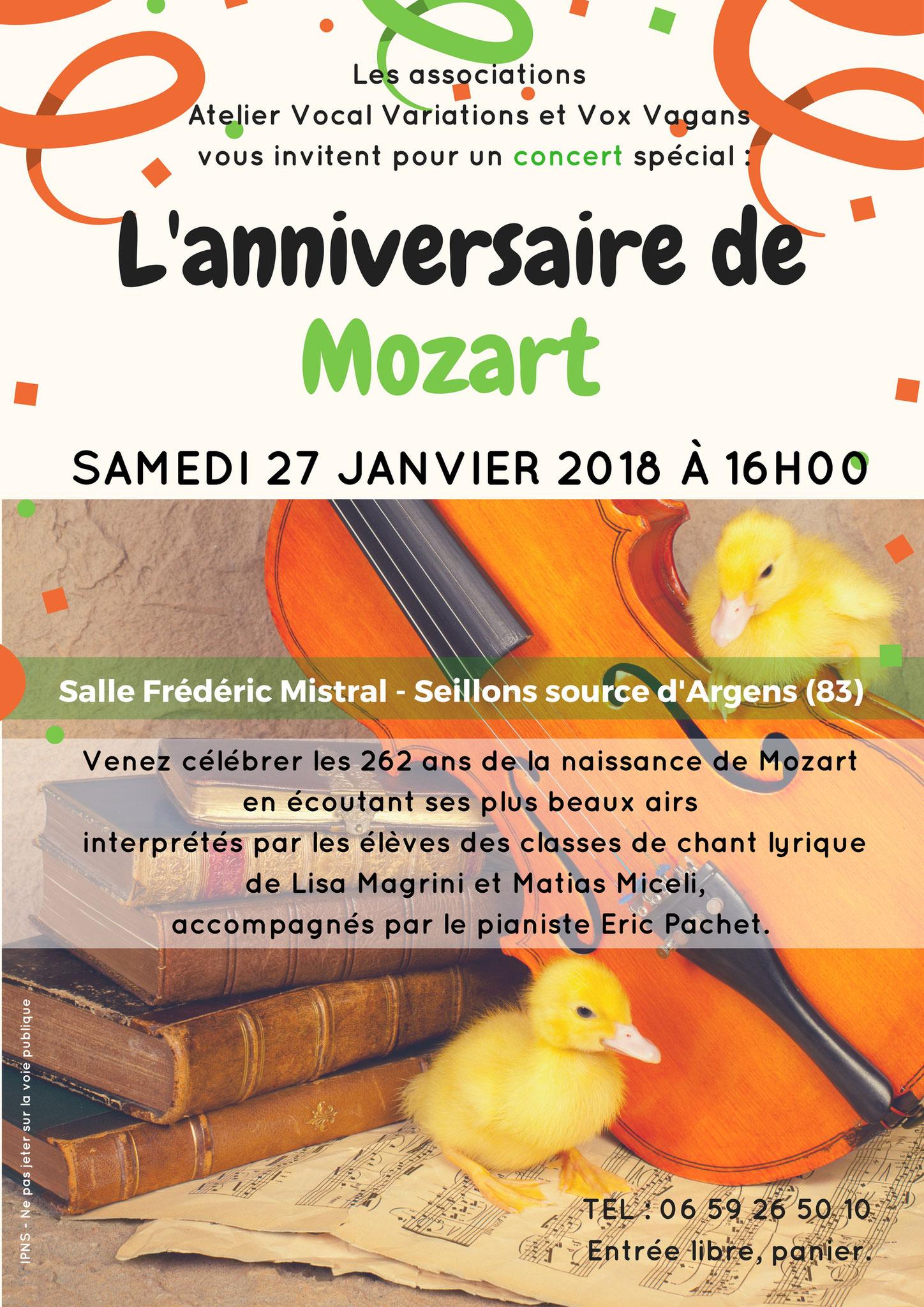 Concert lyrique, Mozart à l'honneur