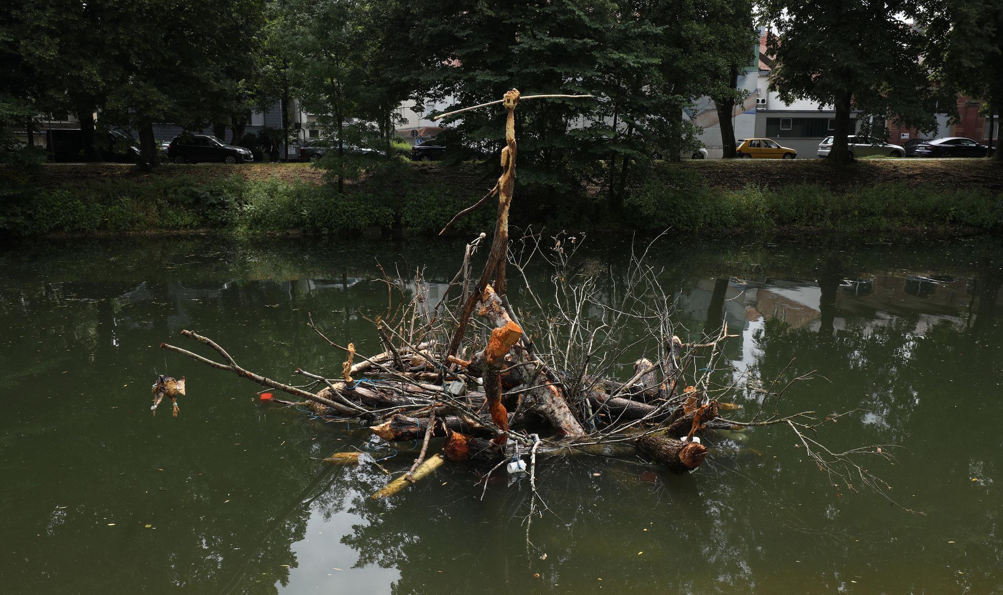 THOMAS PUTZE Biberbau, 2019, Holz