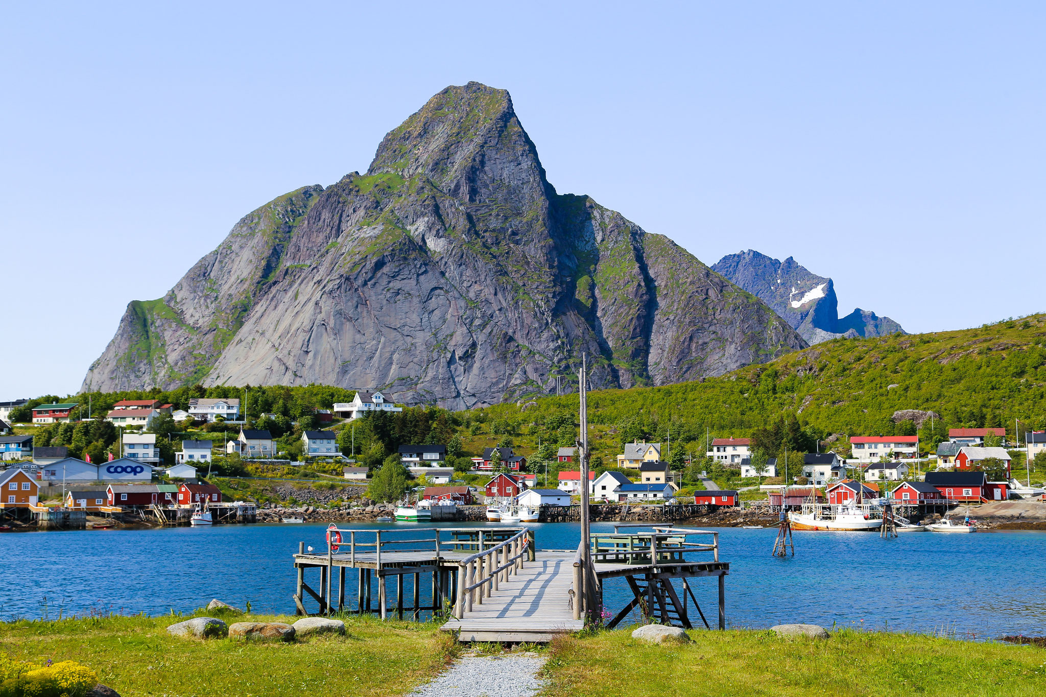 Das Fischerdorf Nusfjord auf den Lofoten, Norwegen © Thomas Rasmus Skauf