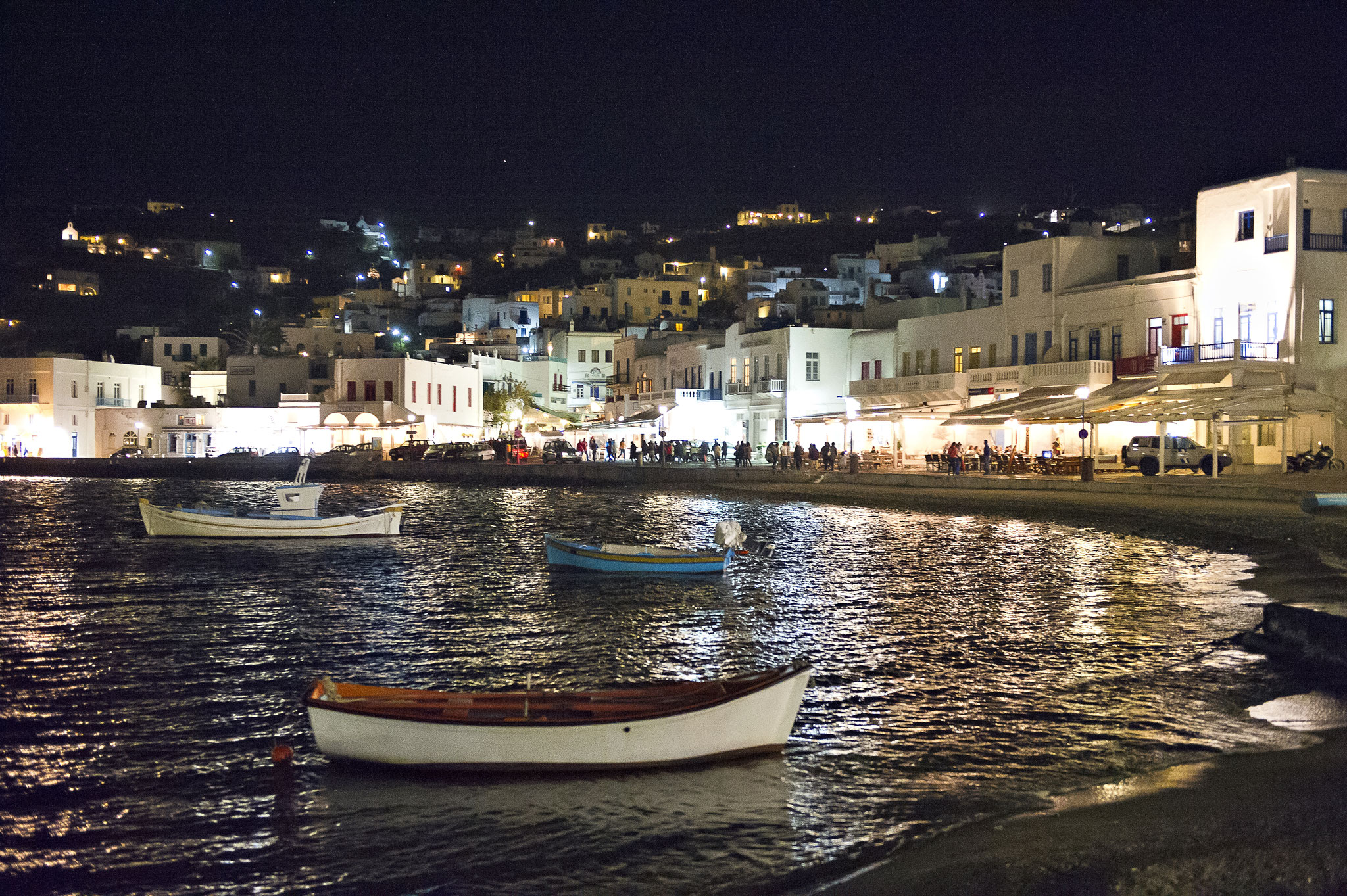 Mykonos by night, Griechenland
