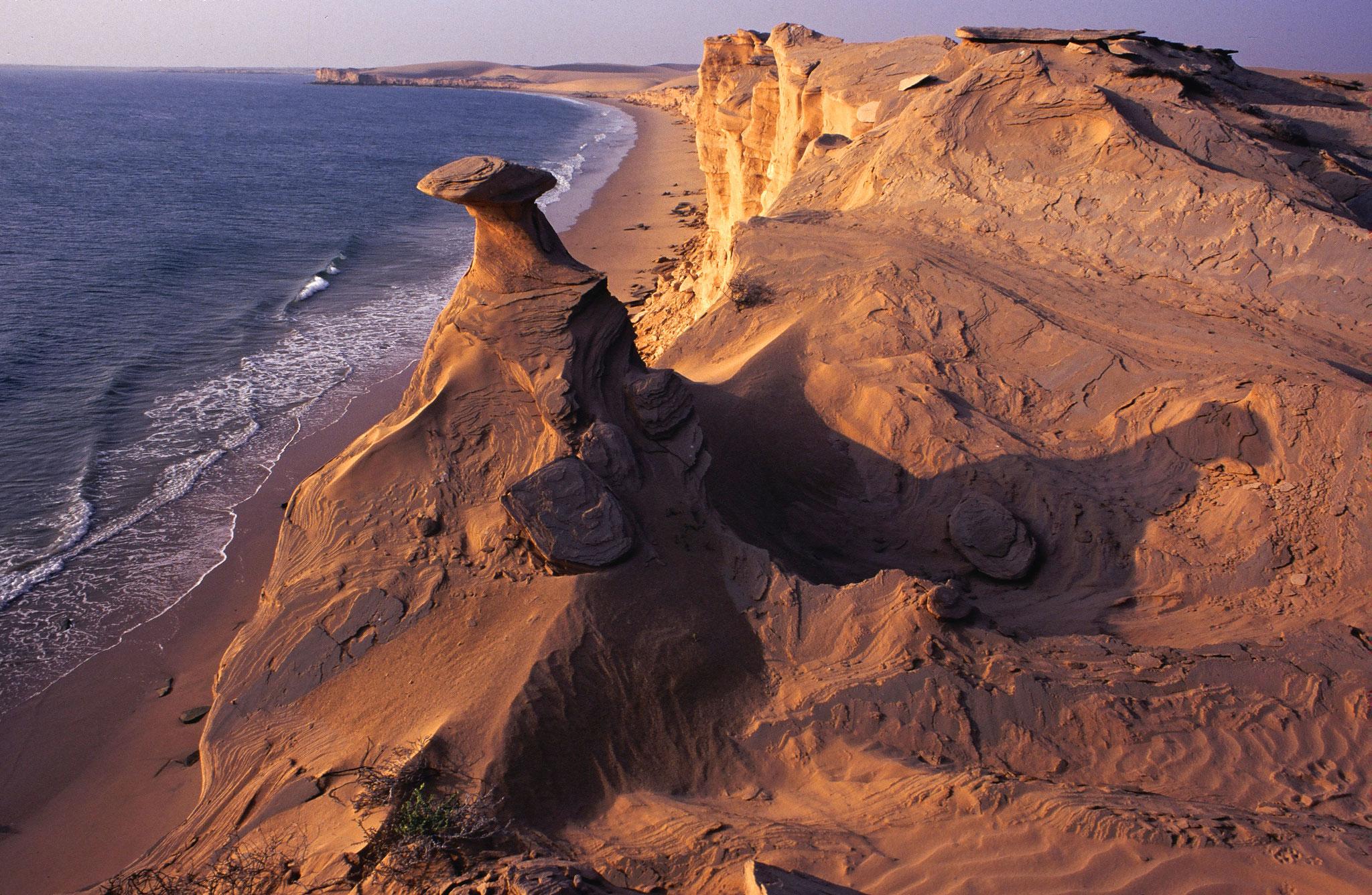 Imposante Erosionsformen in der Wüste