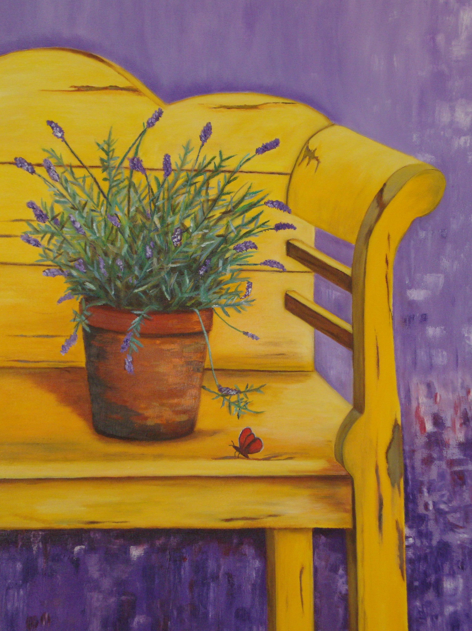 Lavendel op bank
