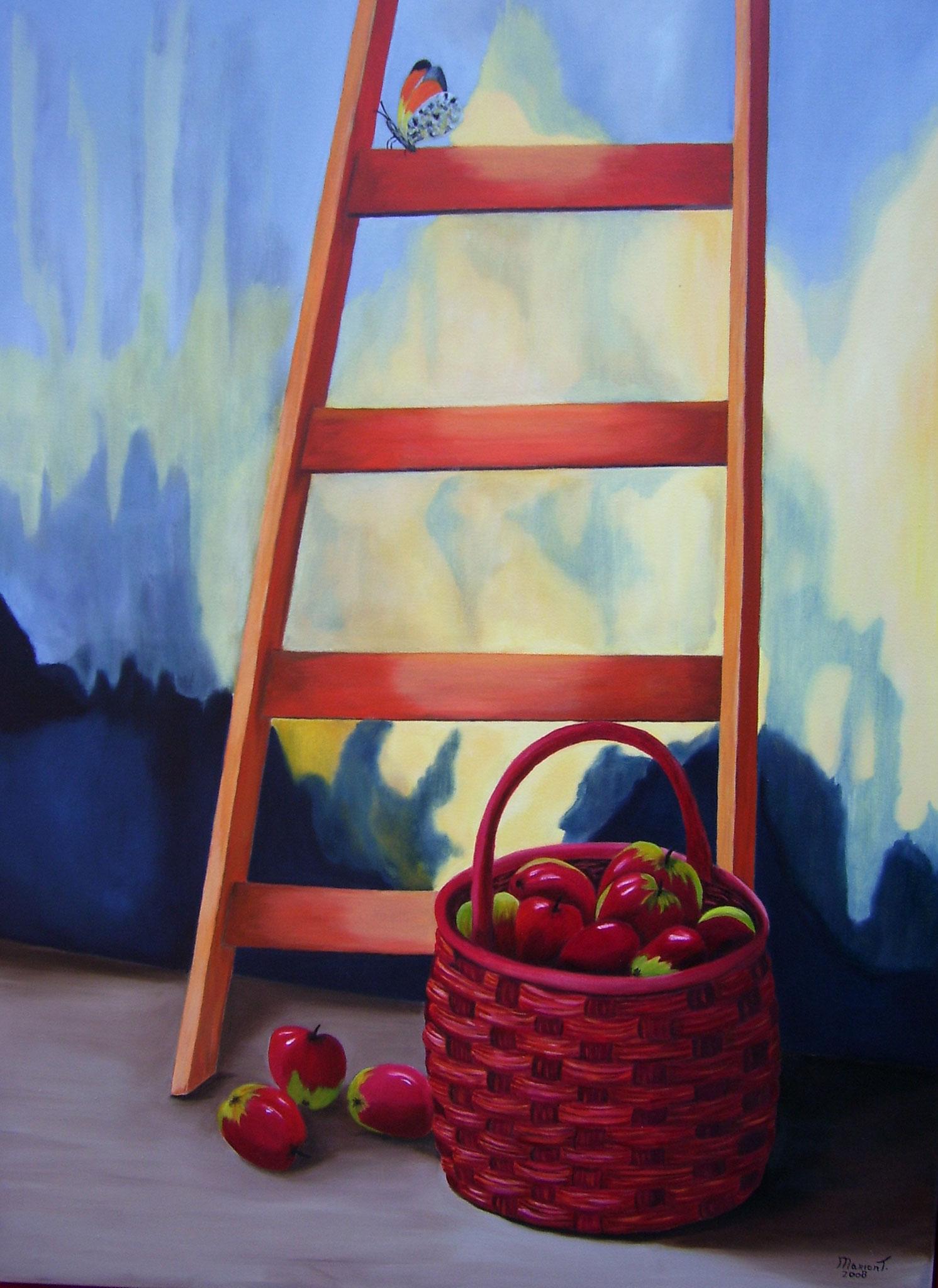 Appels bij ladder 80 x 60 br