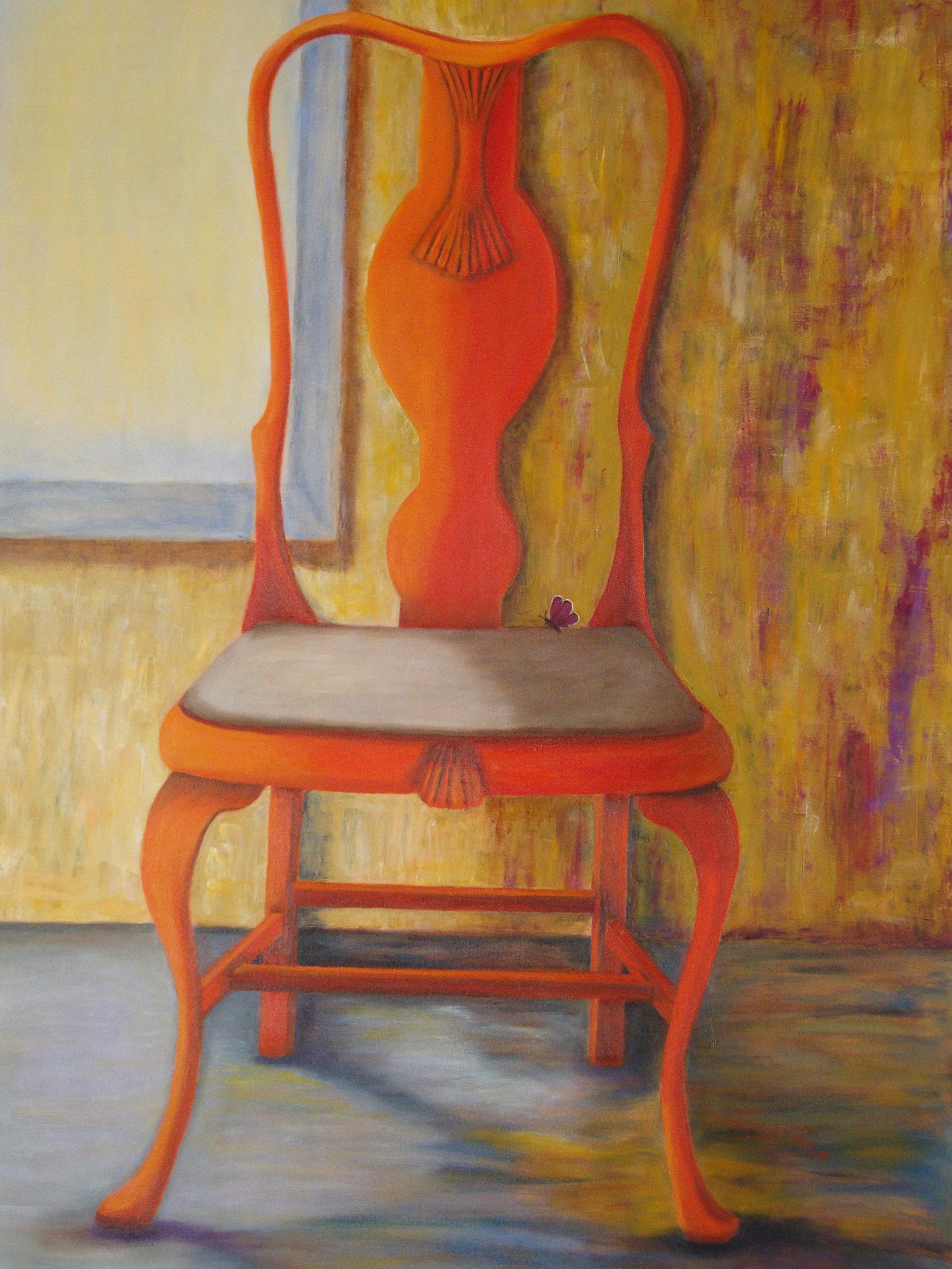 Oranje stoel 80 x 60 br