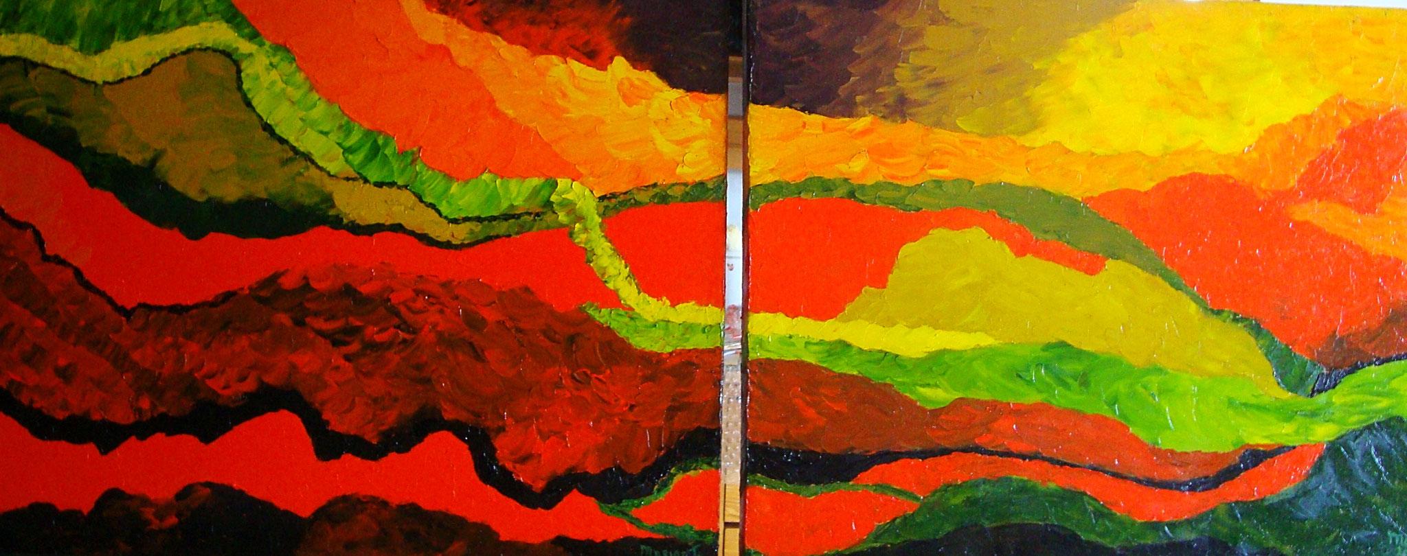 Stromingen ( tweeluik) 2 x 40 x 50 br