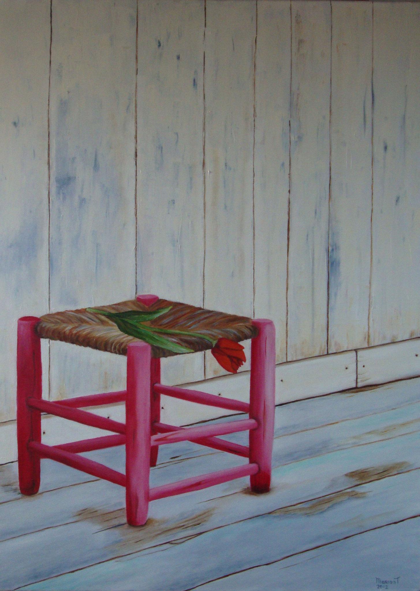 Roze krukje 80 x 60 br