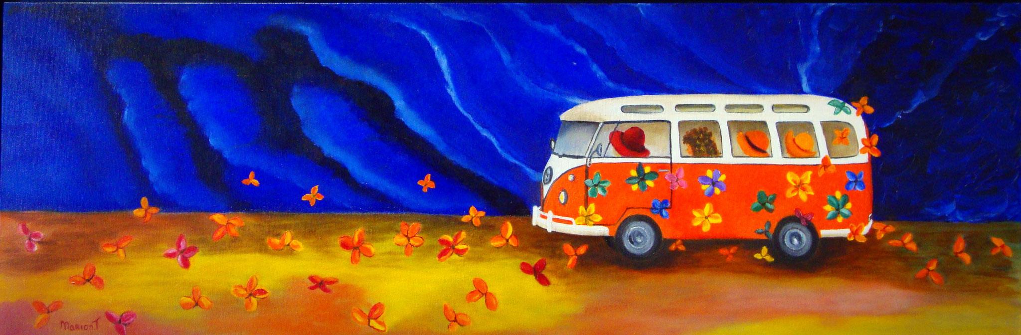 Hippie bus 30 x 90 br
