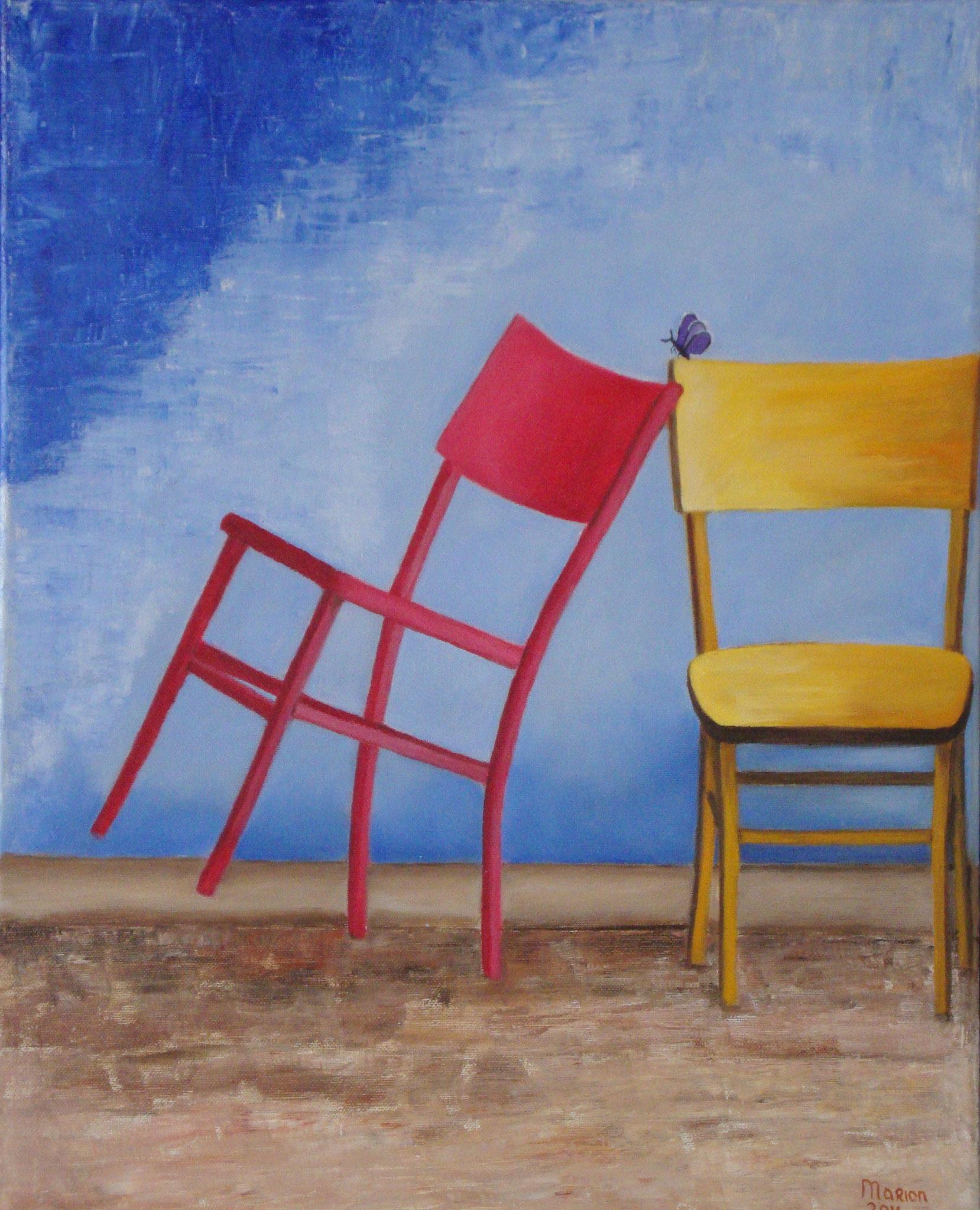 Twee stoelen 40 x 50 br