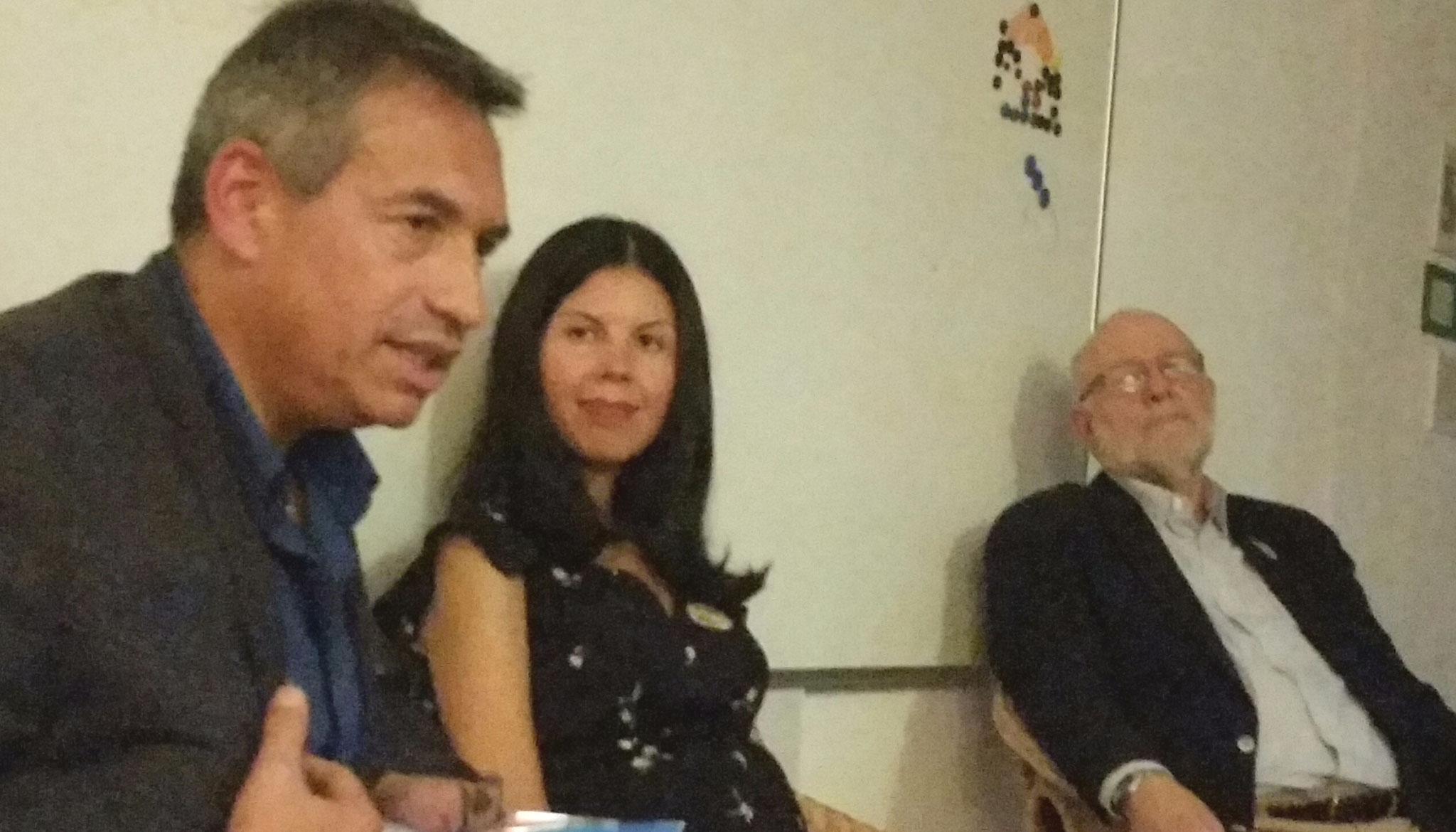 Integrationsforum: Dr. Glenn Koppel, Karina Ausecha und Manuel Miranda