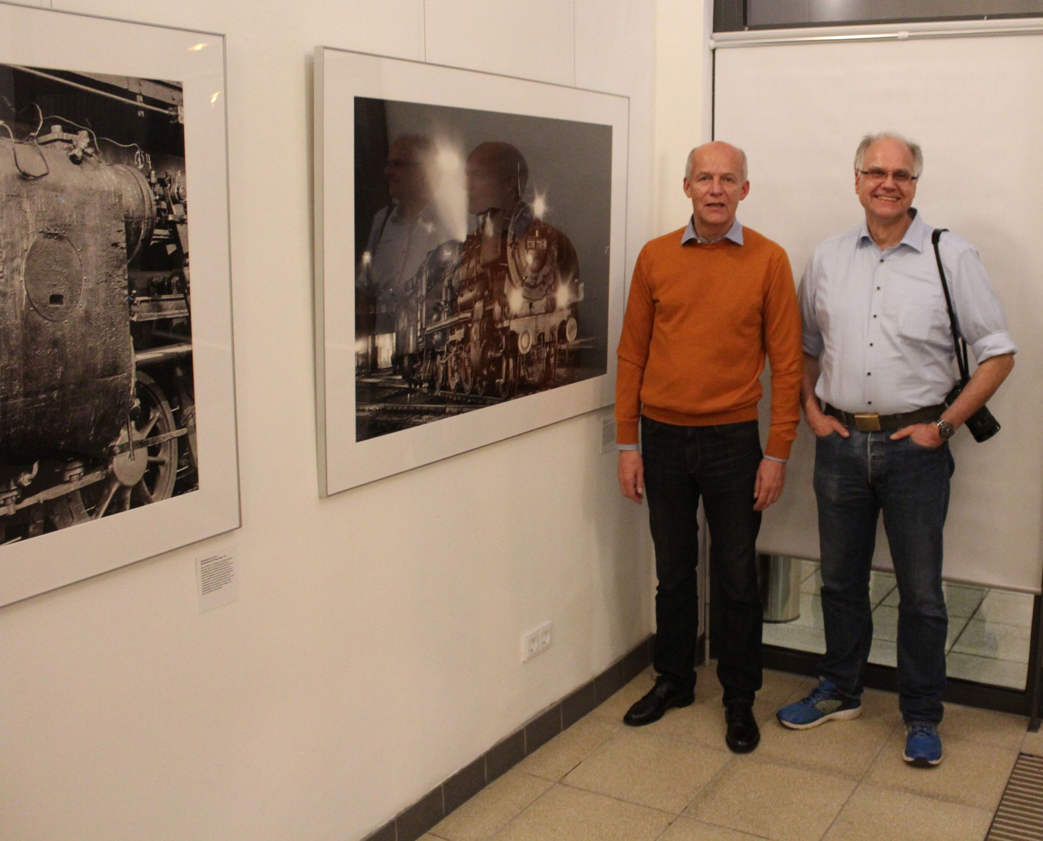 Gerd Lübbering (li.) und Thomas Pflaum zeigten sich bei Ausstellungsende sehr zufrieden (Fotos: D. Altmann).