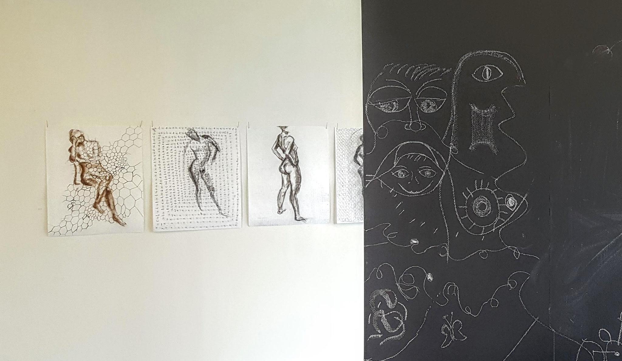 Maxisgeland        Foto en tekening Allie van Altena