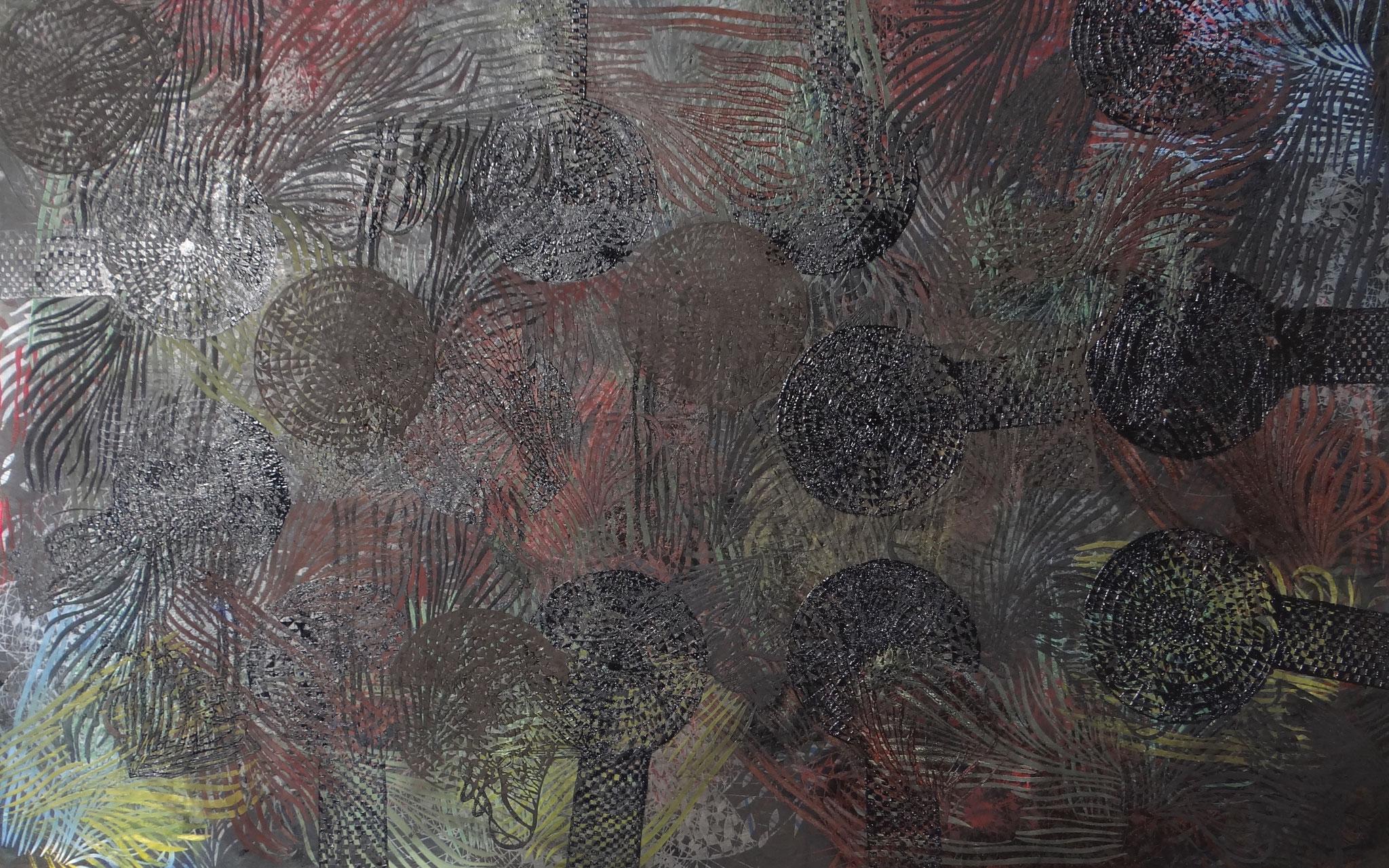 """""""Dark Matter/G20"""" 2018, Oil on canvas, 200 x 100 cm"""