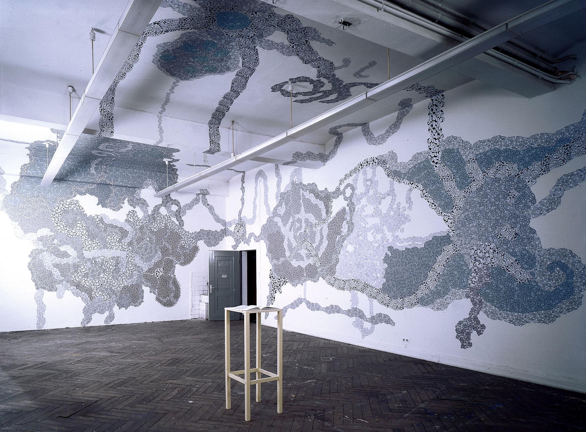 """""""Molette, you are my world"""", 1999, Raumcollage mit duplizierten Handzeichnungen, Hochschule für bildende Künste, Hamburg (Foto: Gunnar Böttger)"""