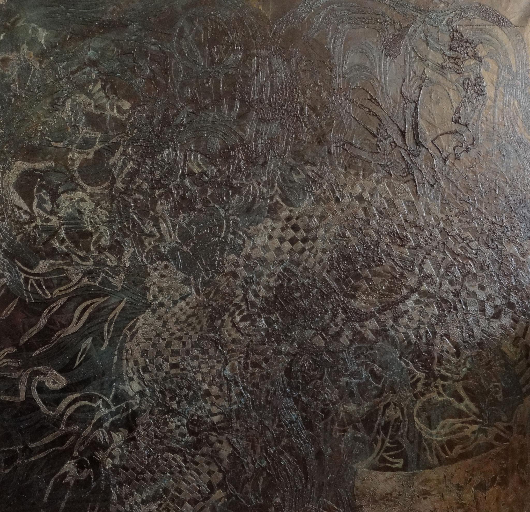 """Nocturne"", Öl auf Leinwand, 90 x 90 cm"
