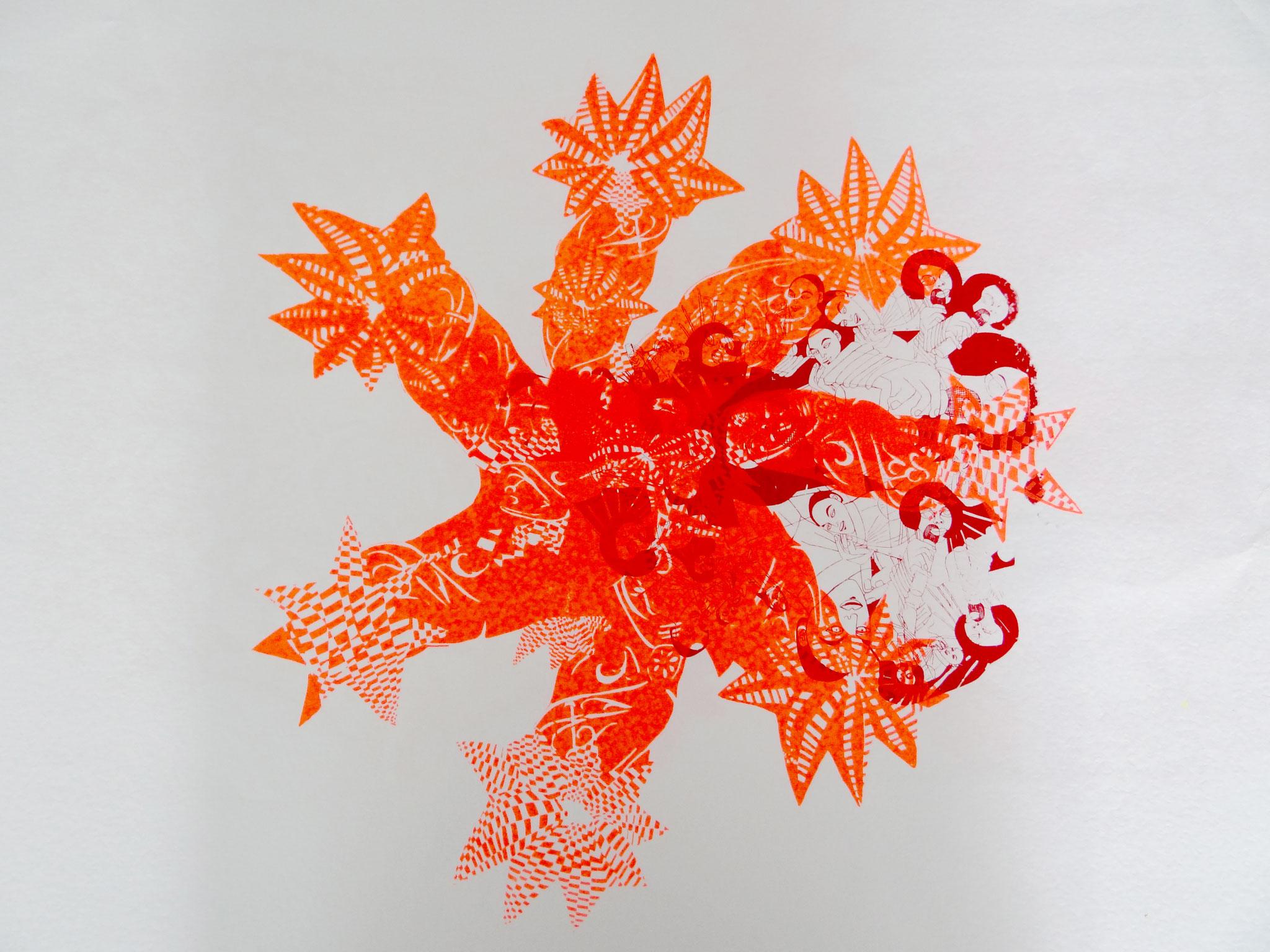 Acryl auf Papier, 50 x 40 cm