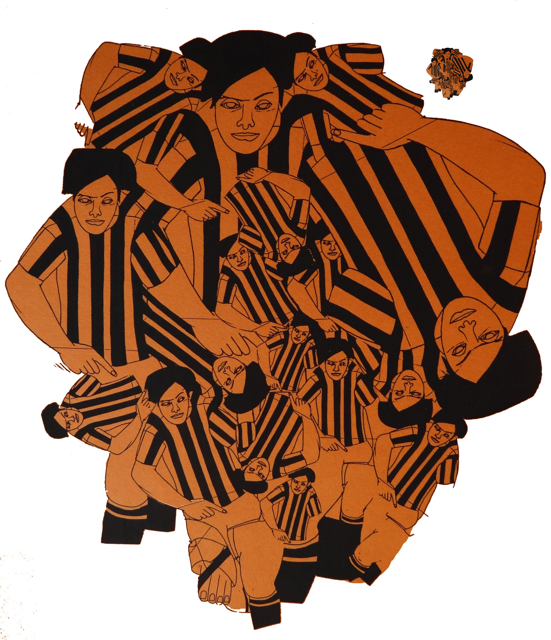 """""""Agatha, hilf"""", 2000, Raumcollage mit duplizierten Handzeichnungen, Schloss Agathenburg, Agathenburg (Foto: Ralf Timm)"""