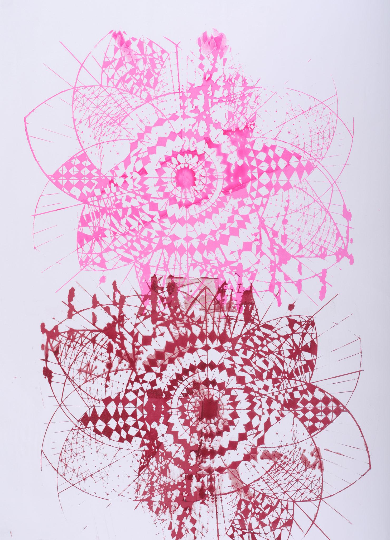 """Acryl auf Papier, unterschiedliche Formate, 2015 Ausstellungsansicht: """"Lost Places"""", 2016, Kunstverein Kaponier, Vechta"""