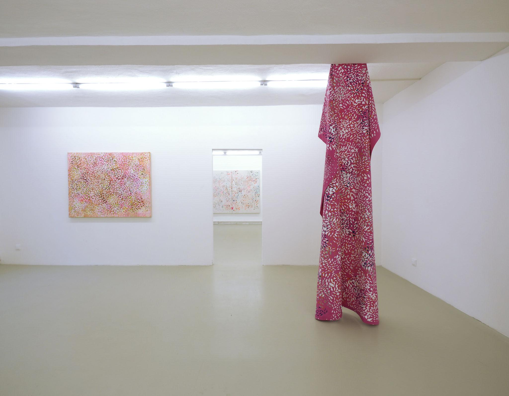"""Sweet Life (Frank Ocean)"", 2016, 140 x 110 cm, Öl auf Leinwand, Privatbesitz (Hamburg) ""Lost Places"", 2017, Bräuning Contemporary, Hamburg Foto: Ralf Timm"