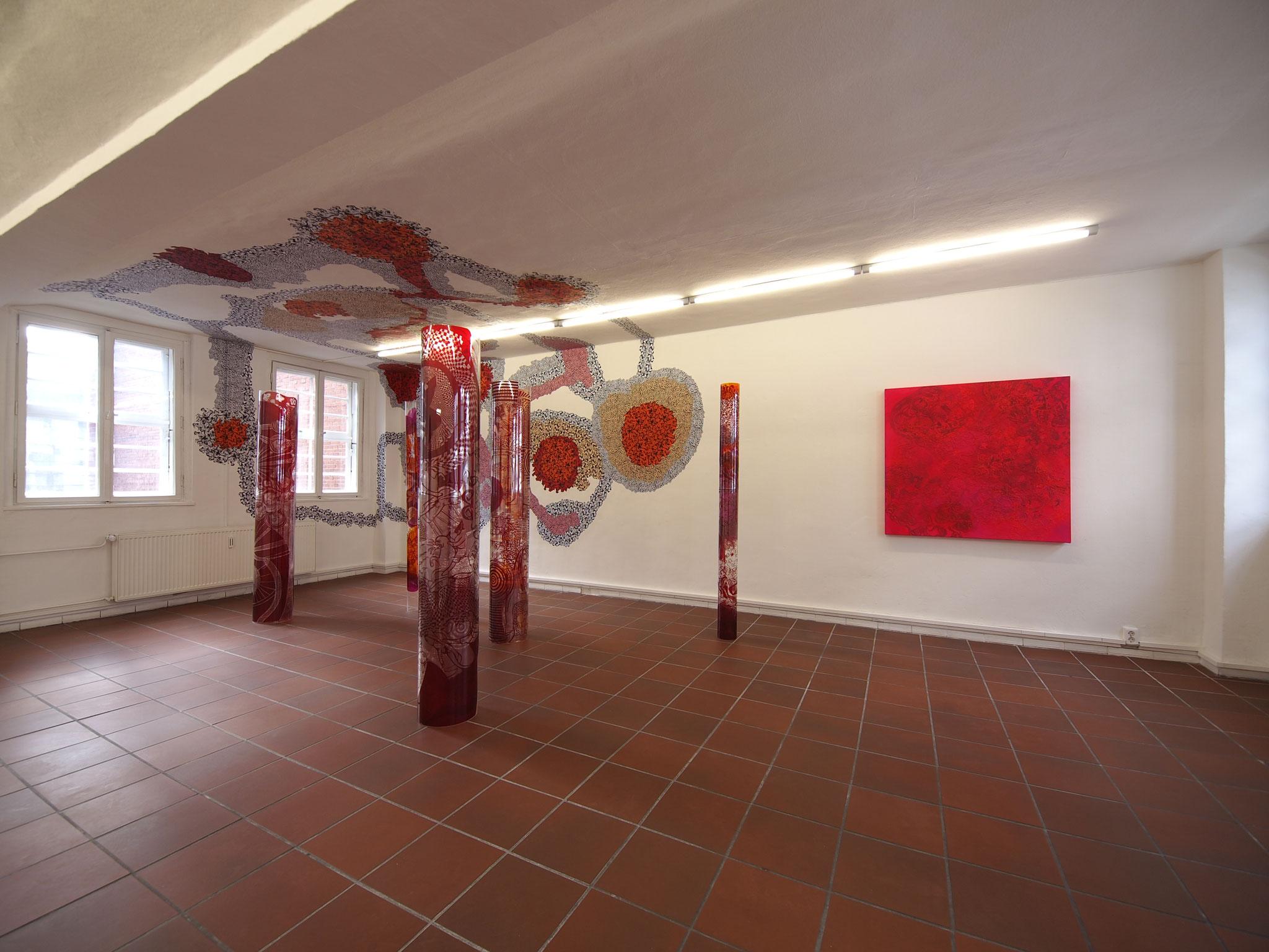 """Klostermosaik"", 2014, Öl auf Leinwand, 130 x 130 cm"