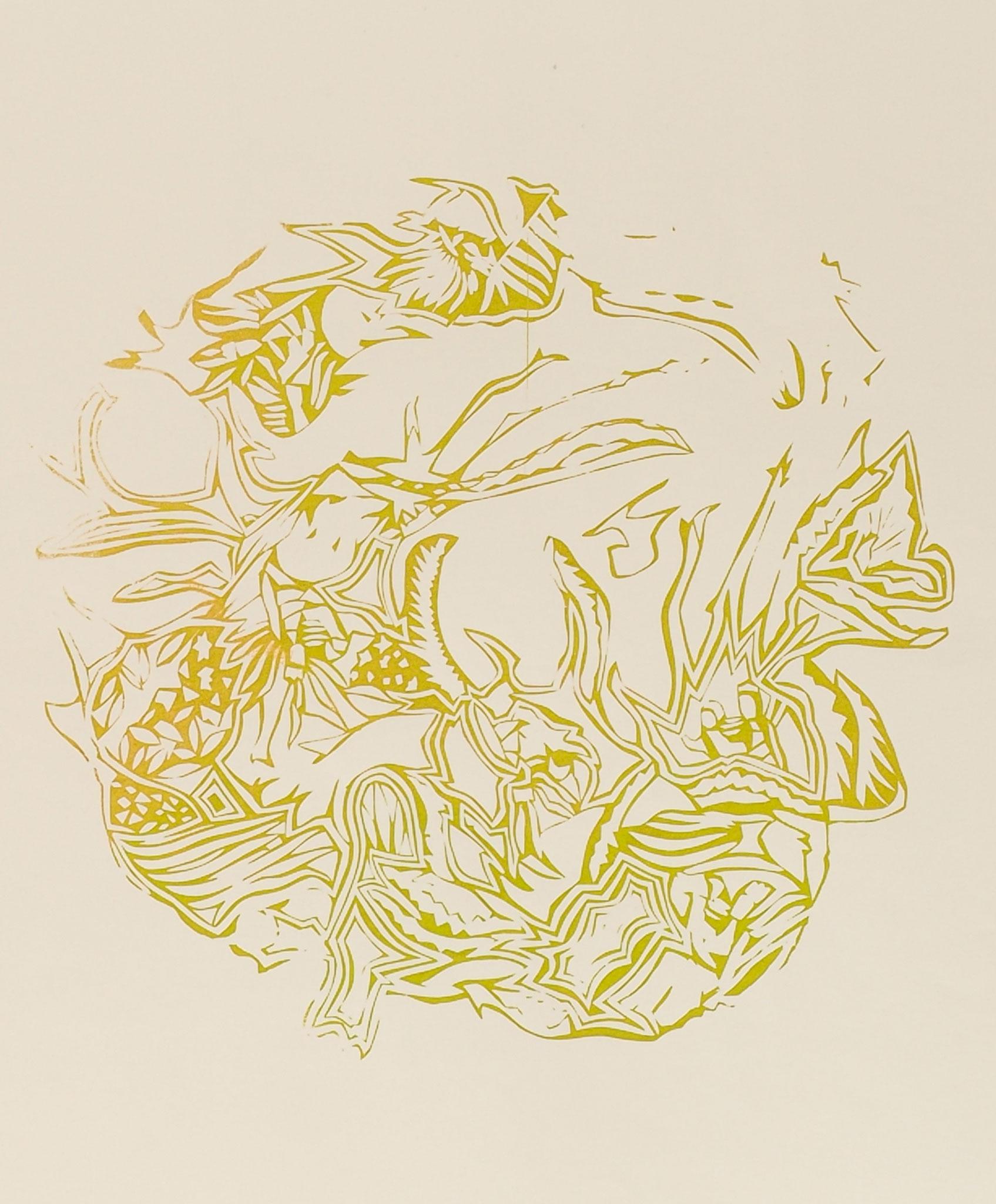 """Vulva"", 2015, Acryl auf Papier"