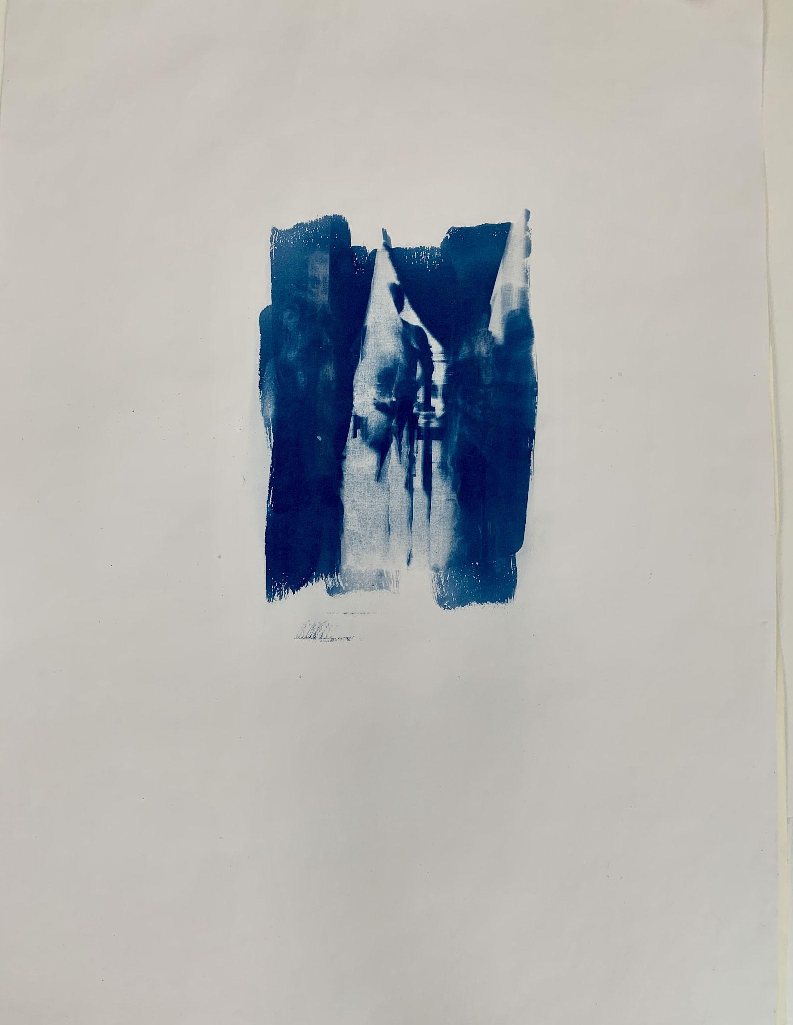 Alleinige Bindung, Cyanotypie, 50 x 70 cm,  2020