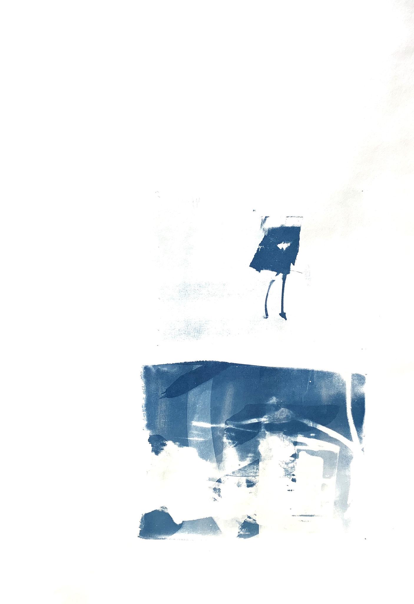 Gegenspieler, Cyanotypie, 50 x 70 cm,  2020