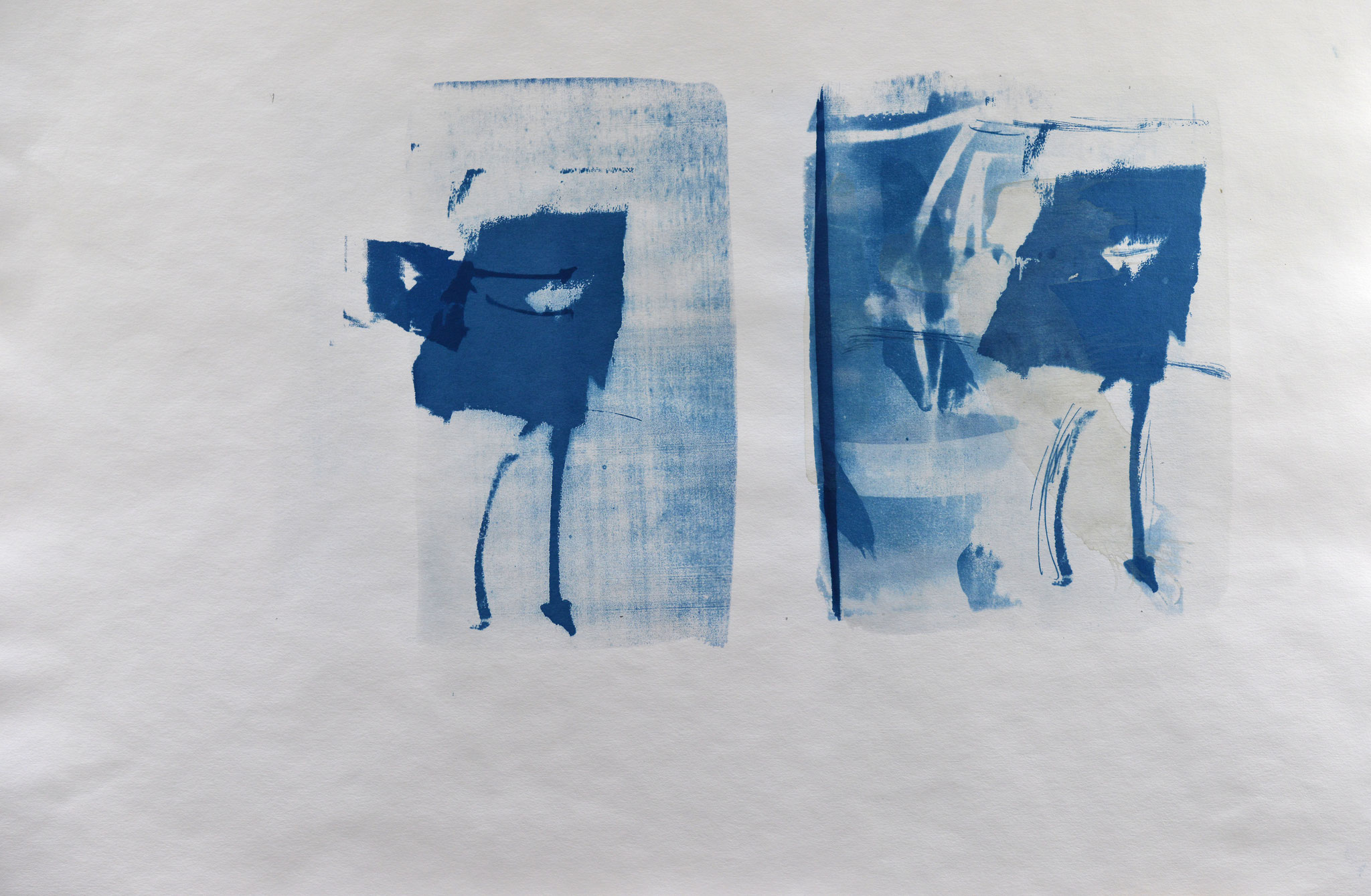 Liebe Freunde aus der Vergangenheit, Cyanotypie, 50 x 70 cm,  2020