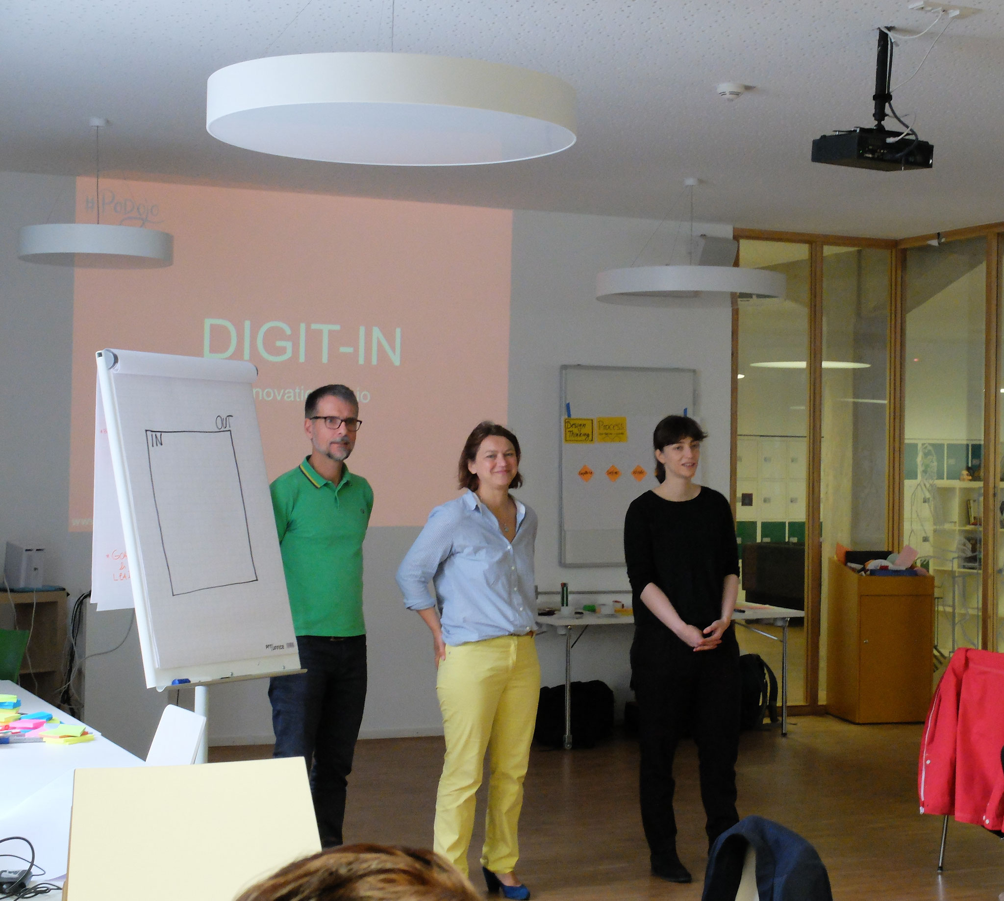 Beim InnovationStarter Workshop entwickeln die Teams der EIFER DIGIT-IN Digital Innovation Challenge mit Design Thinking den Scope ihrer Lösung.