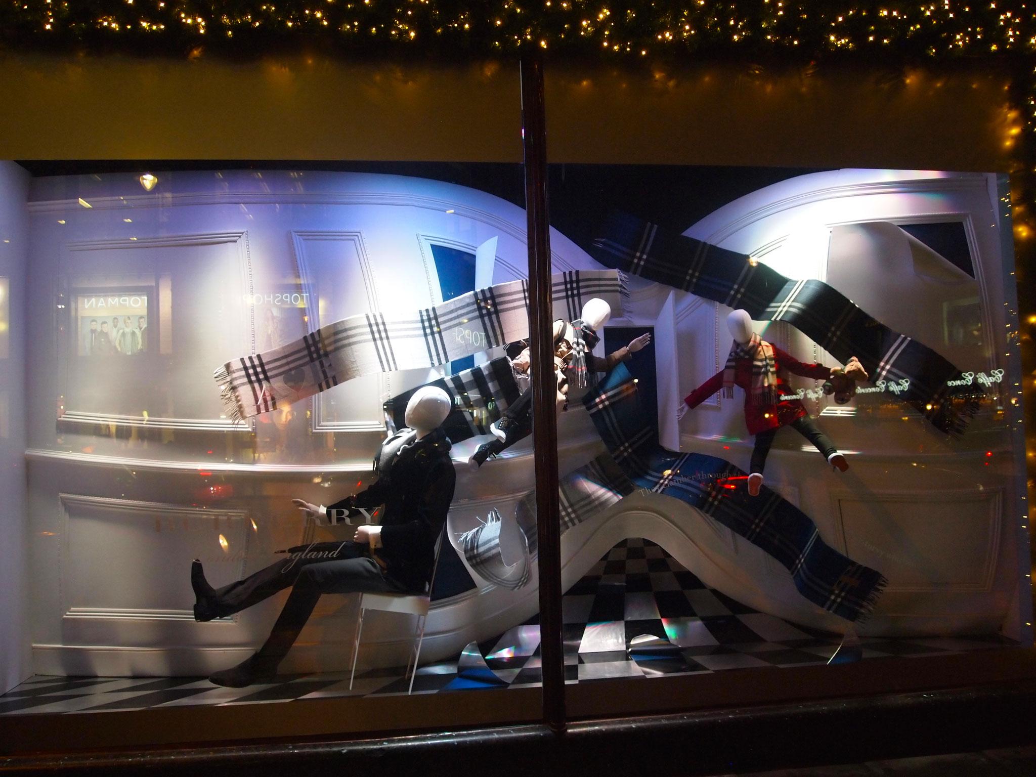 Londoner X-Mas Schaufenster 2016