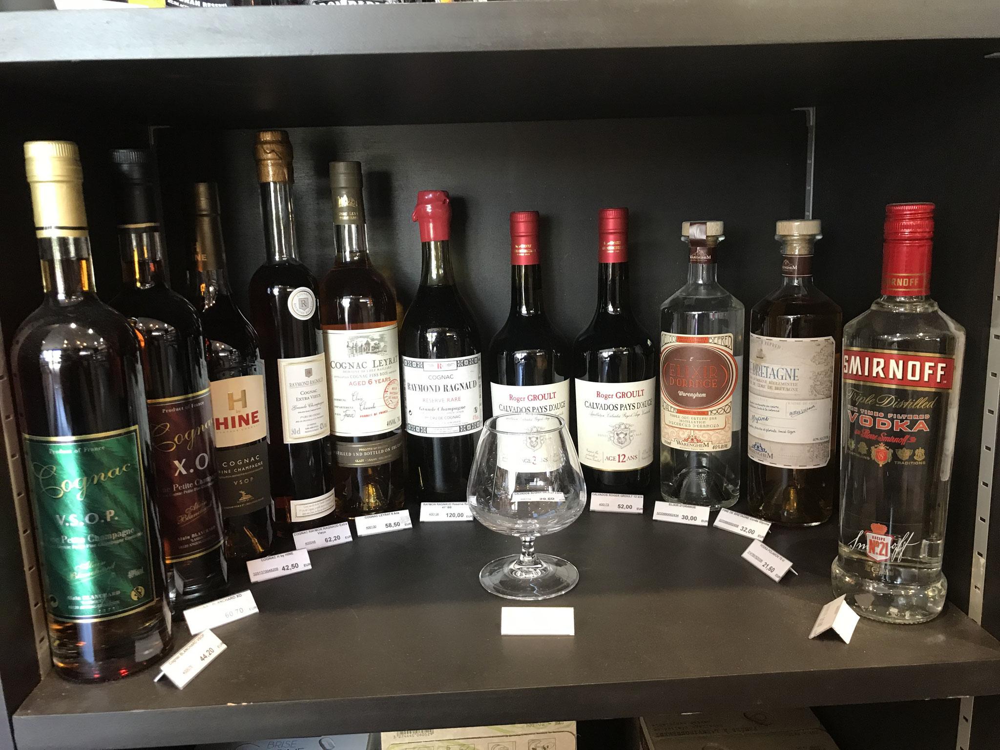 Cognac / Calvados / Vodka
