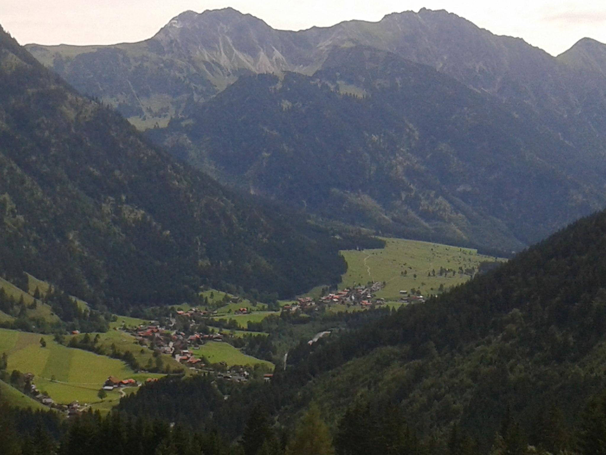 Blick vom Imberger Horn nach Hinterstein