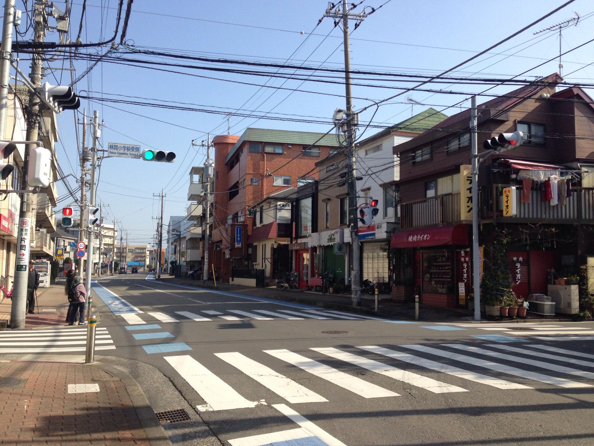 1つ目信号 (林間小学校東側)