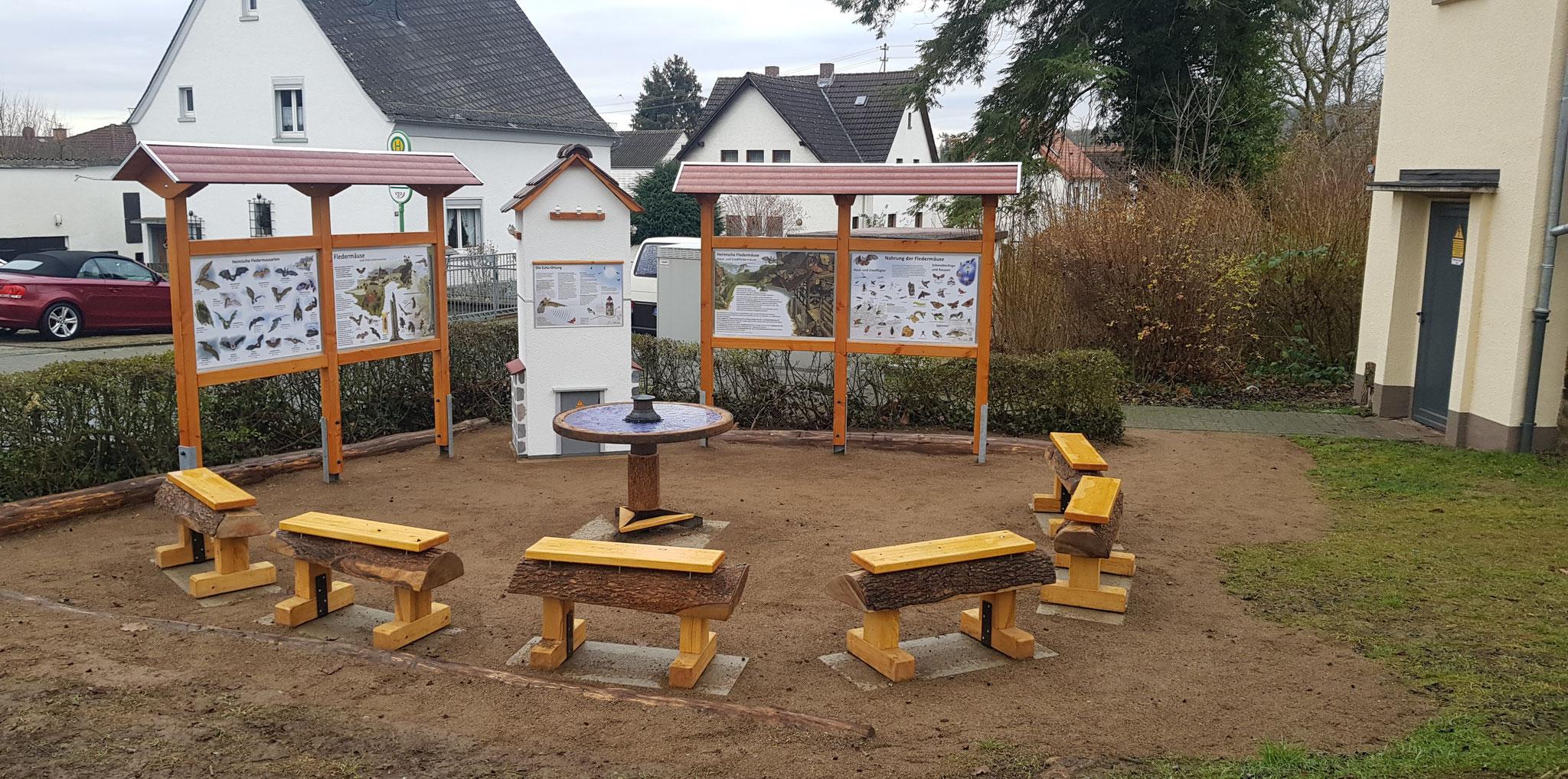 Die Wunderschöne Außenanlage umgesetzt durch die Gemeinde Biebertal / Evenius GmbH