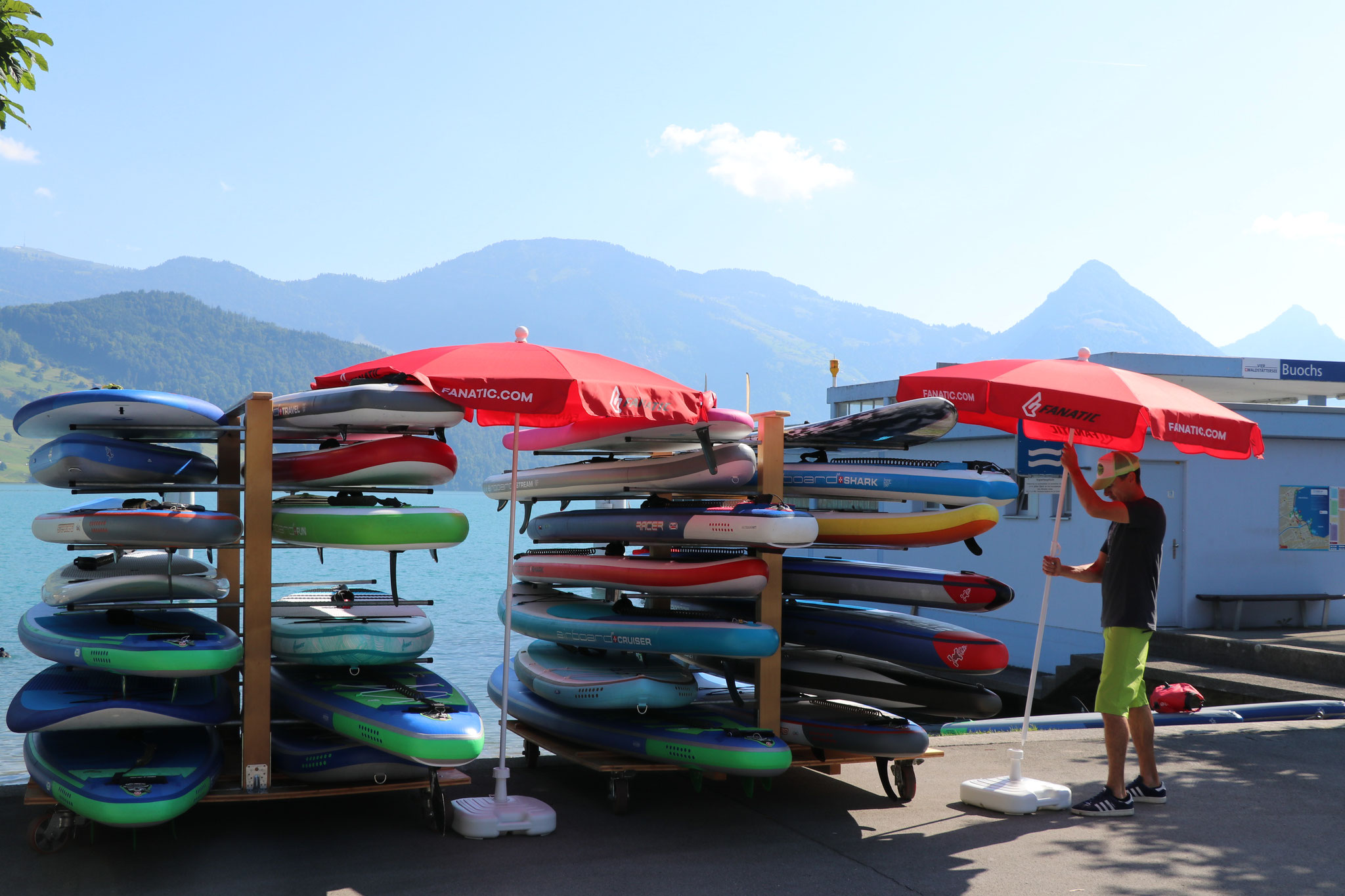 Sonnenschutz für die SUP Boards