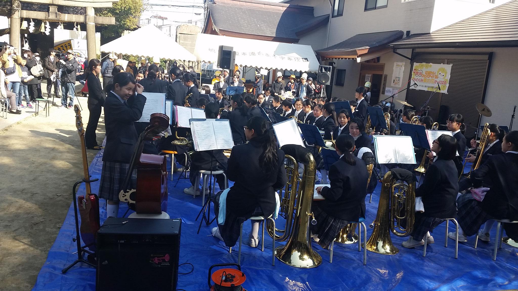 今津中学校の吹奏楽による素晴らしい演奏
