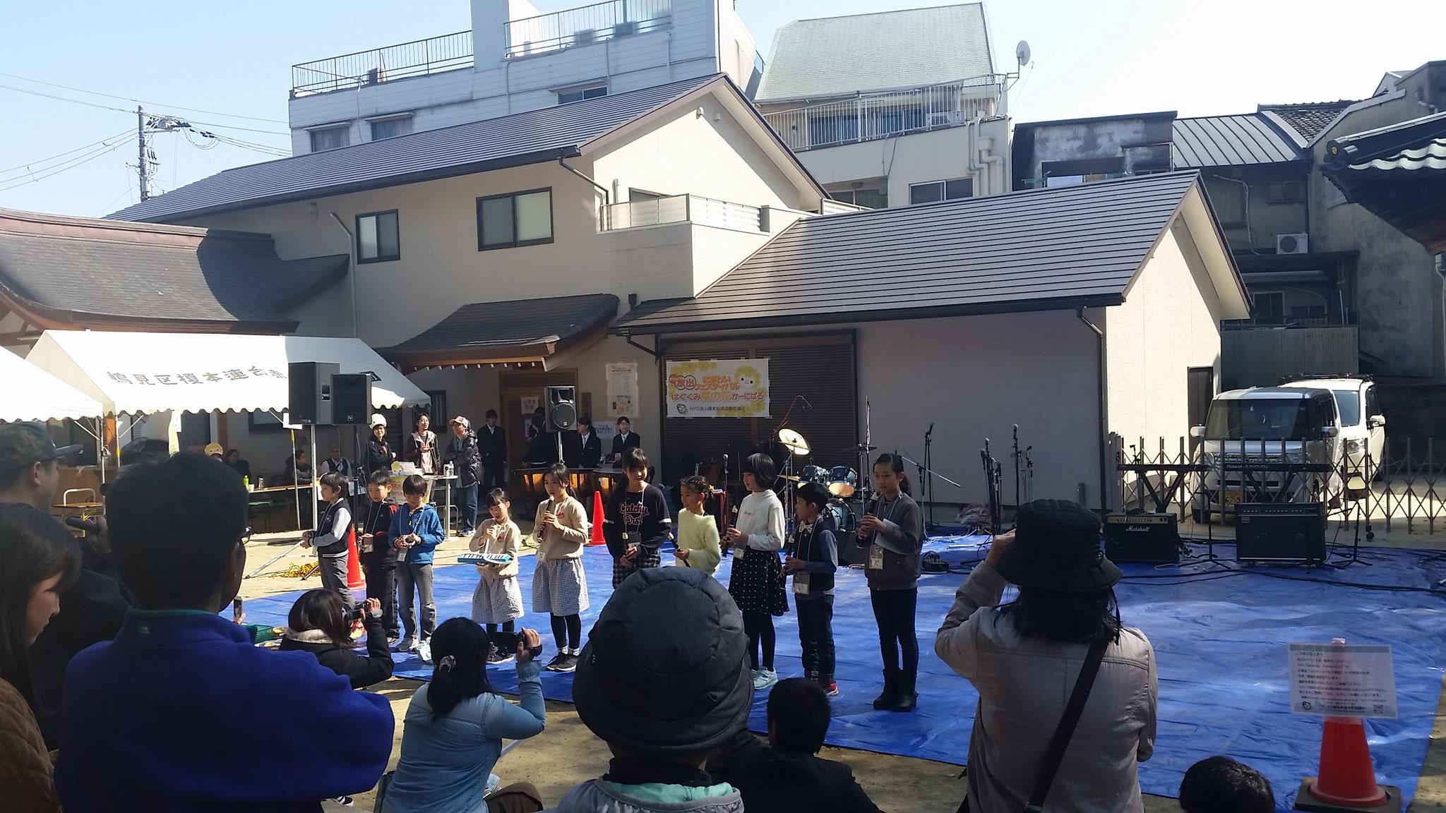 榎本小学校生もリコーダー演奏がんばりました!