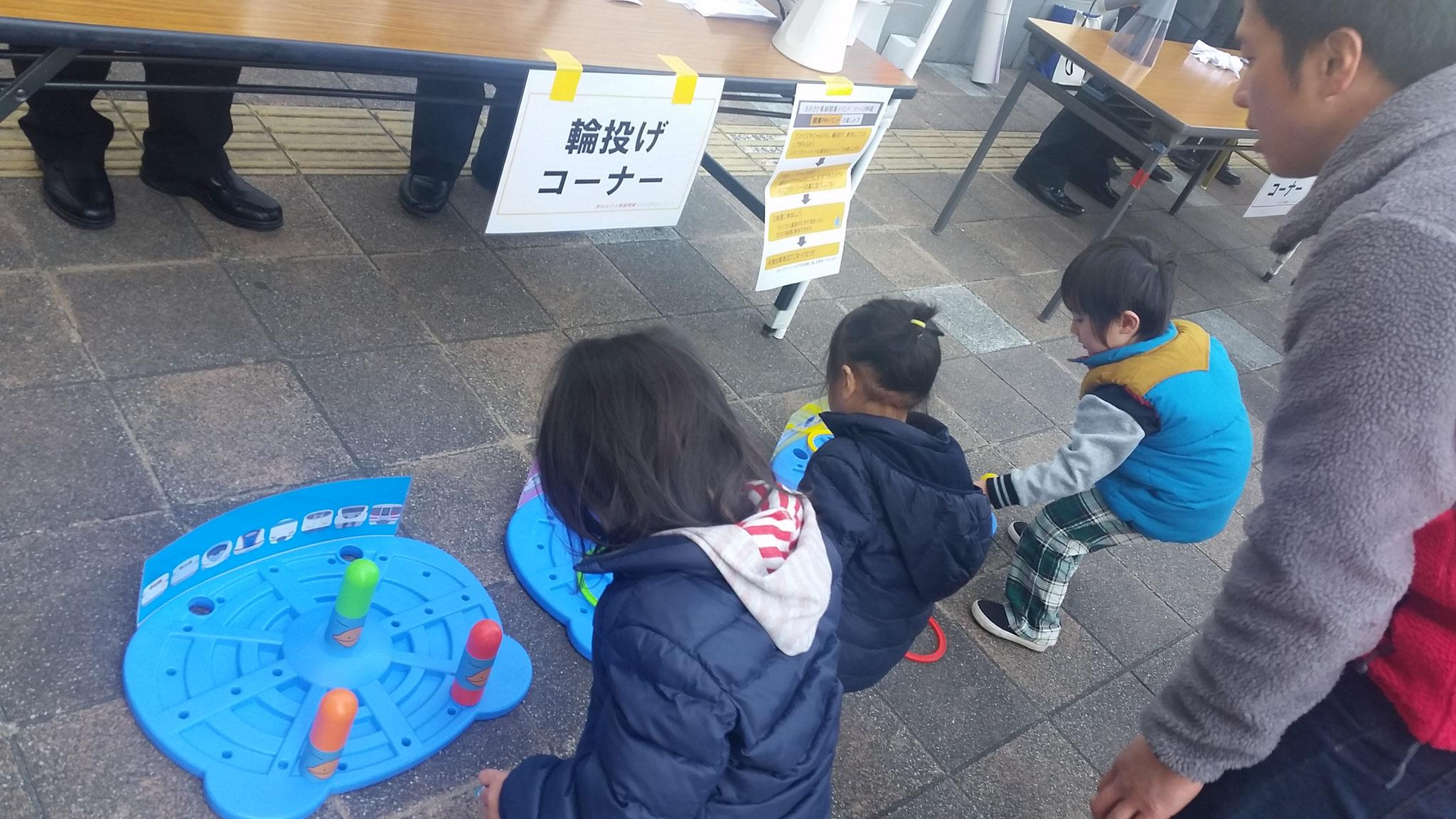 子供たちは楽しくゲームに参加