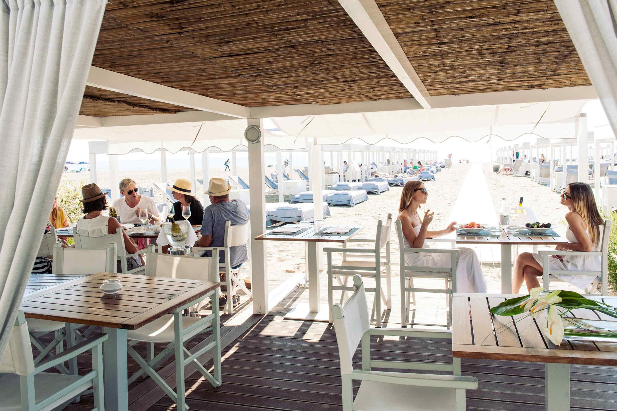 Eines unserer Strandrestaurants der toskanischen Riviera