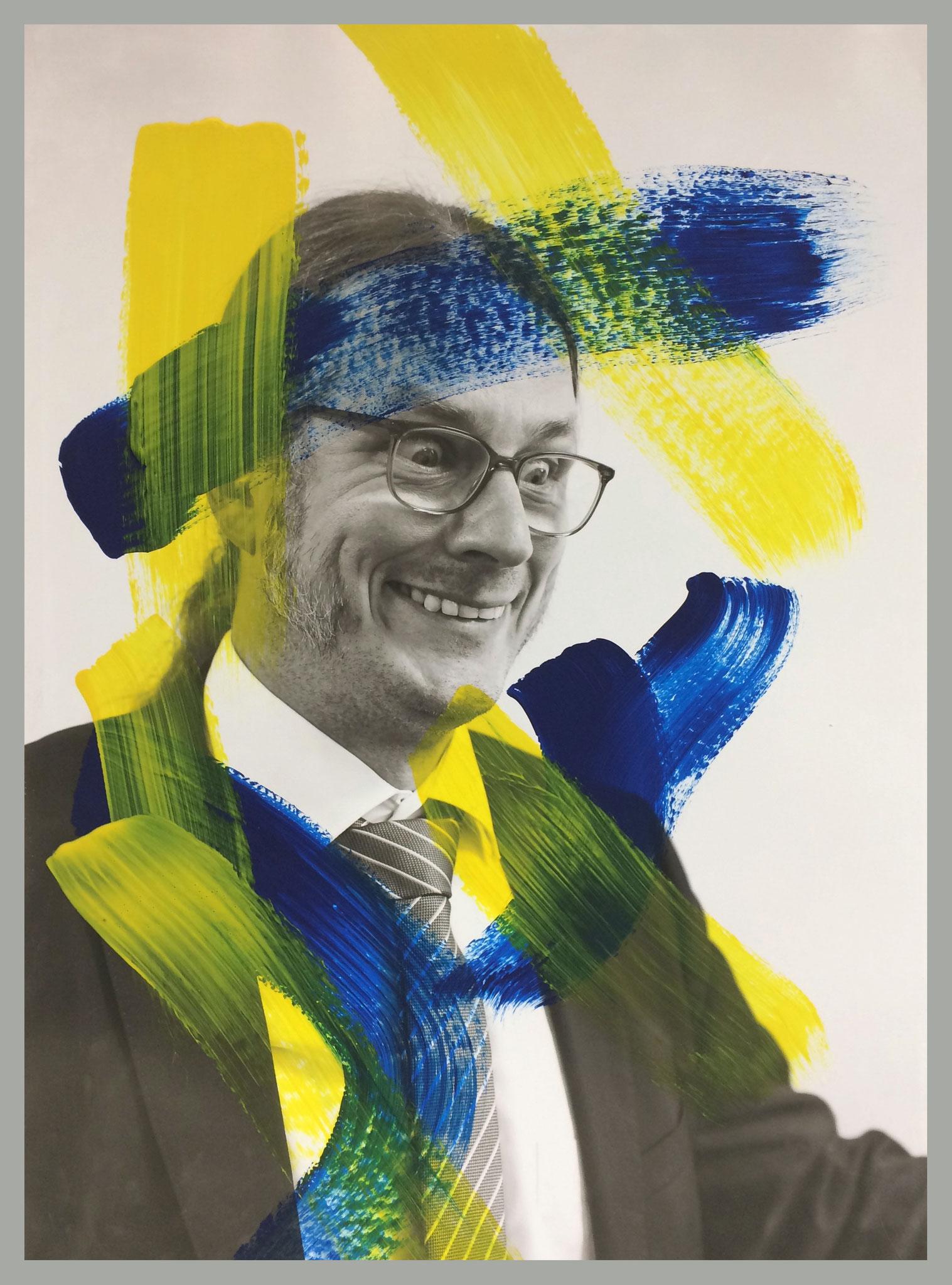 Dominik Pichler à la Arnulf Rainer, © Malte Fiedler