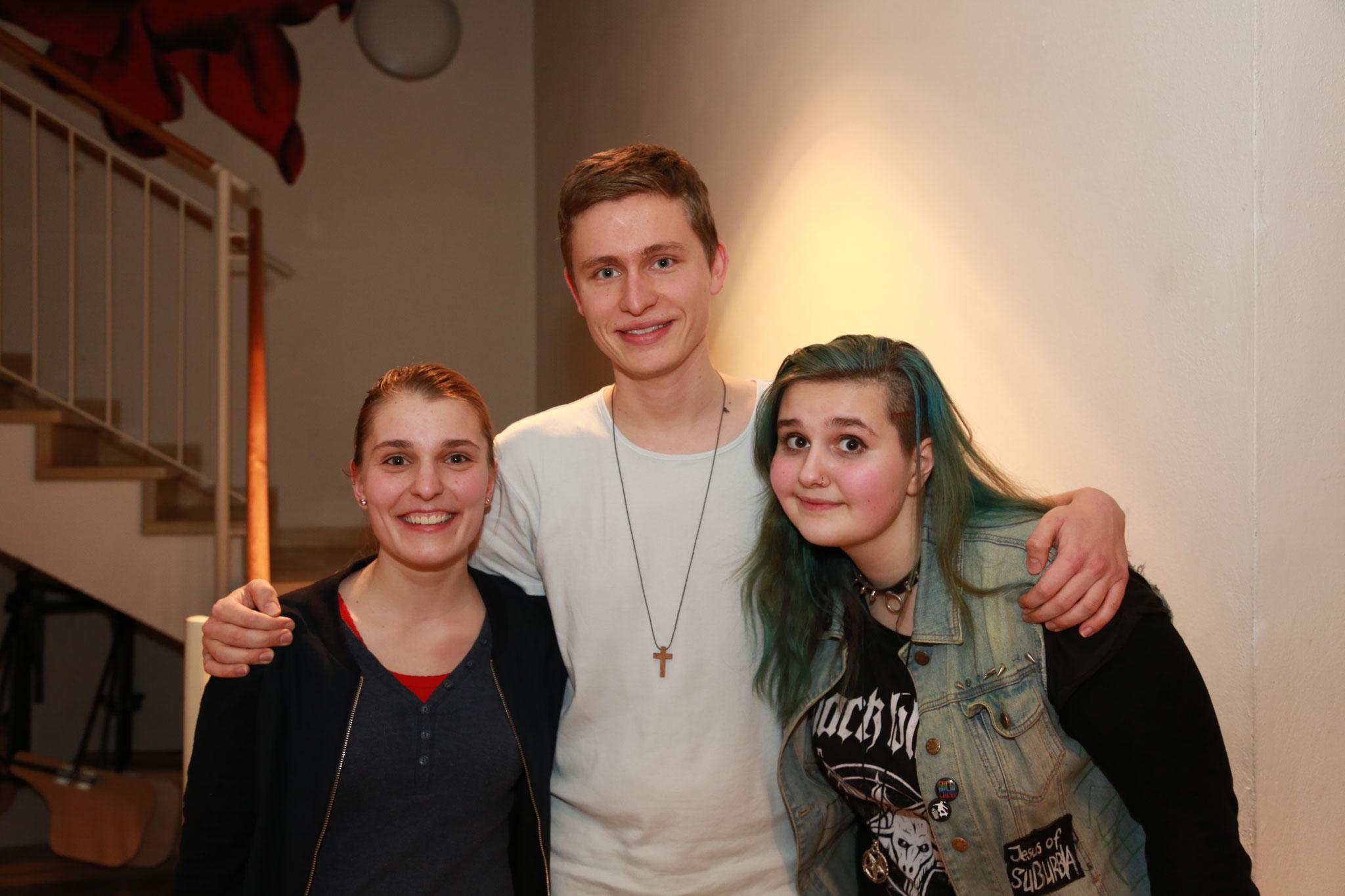 Die Finalisten Maria, Jonas und Luzie