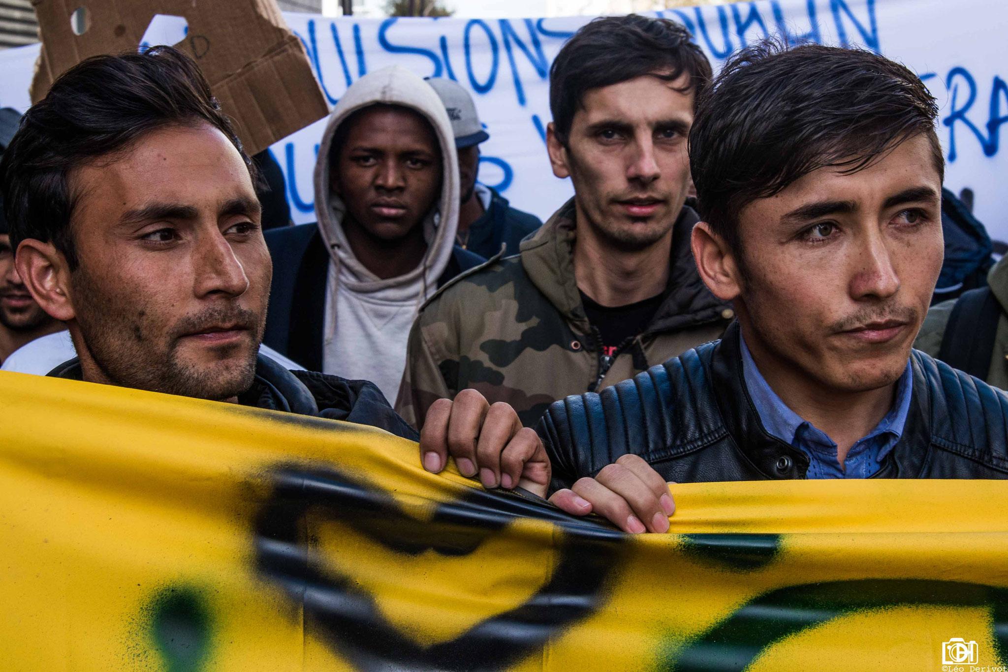 Manifestation Parisienne de soutien aux migrants, 6 Janvier 2018