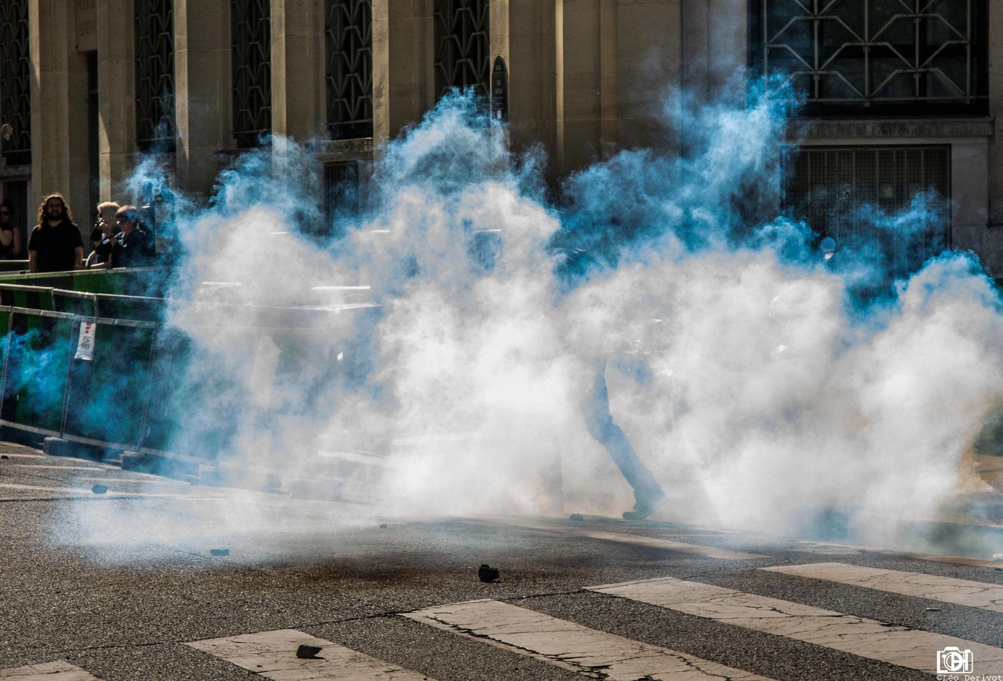 Manifestation de soutien aux cheminots, Paris, 19 Avril 2018